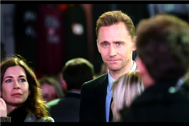 """I last photographed Tom Hiddleston in 2015 at   The BFI Luminous Gala   and   the premiere of """"High-Rise""""   and his presence at this premiere was certainly greeted with the noisiest cheers. I myself am here primarily for actress Brie Larson, who I've never photographed. Hiddleston and The Director's Beard are just a bonus."""