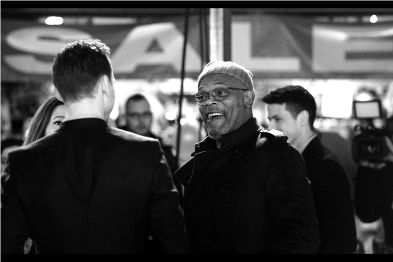 """""""Hey, you're that guy who was almost singlehandedly responsible for the alien invasion of New York! Love the jacket, man!"""".  Samuel L Jackson is also part of the Marvel Cinematic Unverse, playing the role of Nick Fury across numerous films including   Captain America The Winter   Soldier   and   Captain America Civil War  ."""