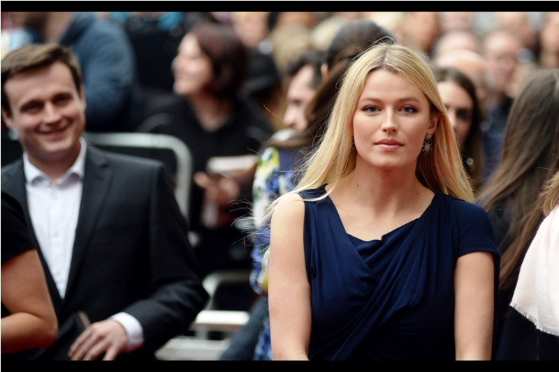 "I'm not blnking either. IN fact, in 8 out of 10 alternative universes we're both still standing here , neither of us bliking, with security wondering if they should ask us to move on because the event ended hours ago. (She's Lily Travers, best known for being in (and at the premieres of)  ""Kingsman : The Secret Service""  and  ""Me Before You"" ."