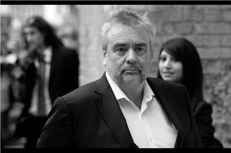"""That lady behind me has been spoiling portraits of me all month""  - Luc Besson has directed such films as The Fifth Element, Nikita and Leon; as well as being the writer / creator of such things as the Taken, The Transporter and Lucy."