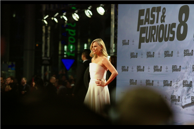 Finally, the sea of humanity parts for an instance, and the still potential future Mrs Charlize Talasch poses for the Paparazzi. Sadly, the sea of humanity, much like many seas, does not stay parted for long.