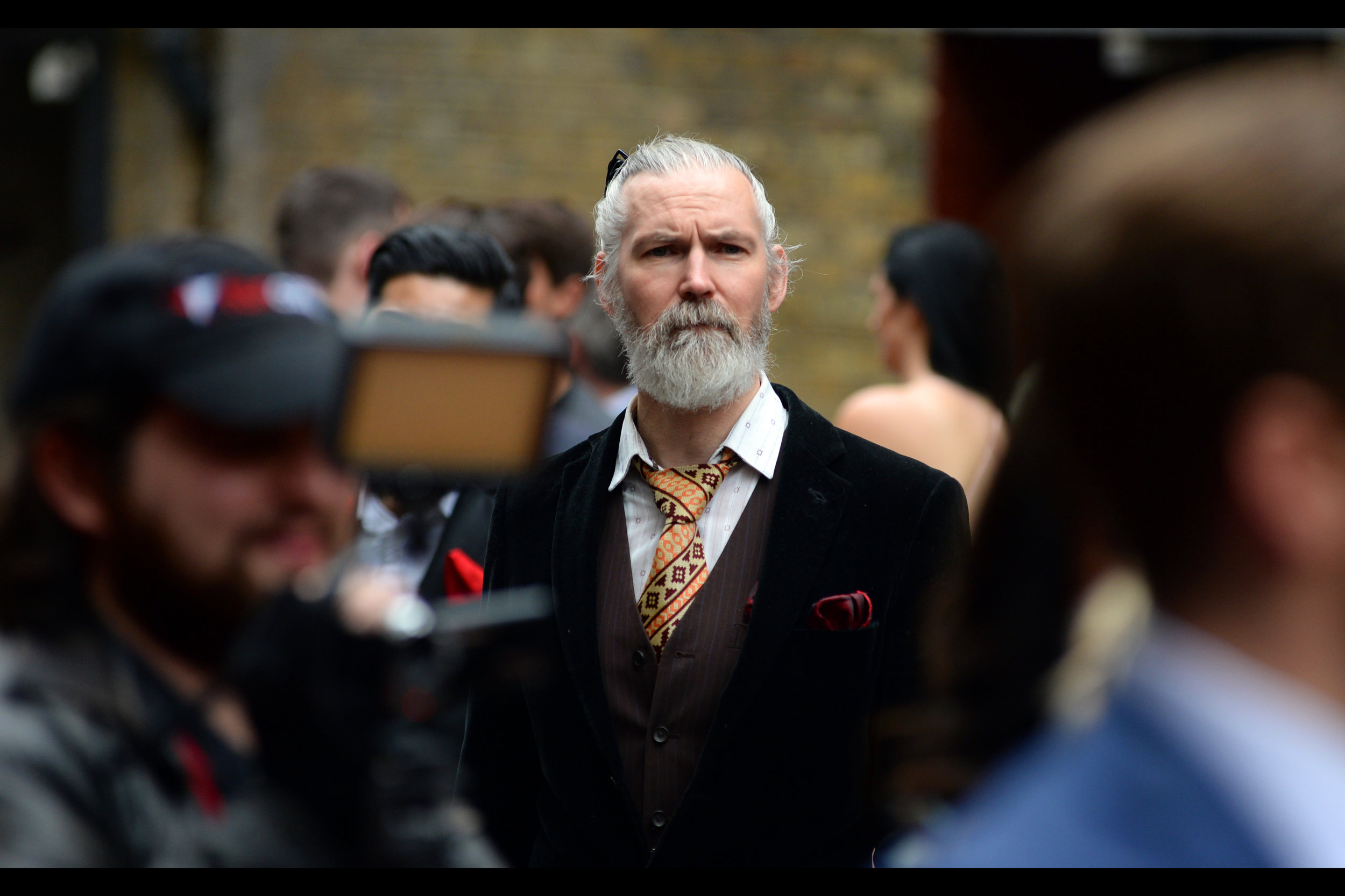 Please don't break my heart and tell me this man isn't in the movie. Or isn't a fantastic looking Jeff Bridges. Or an urban samurai assassin wearing maroon velvet. (Or my residual self-image when I'm inside The Matrix.)