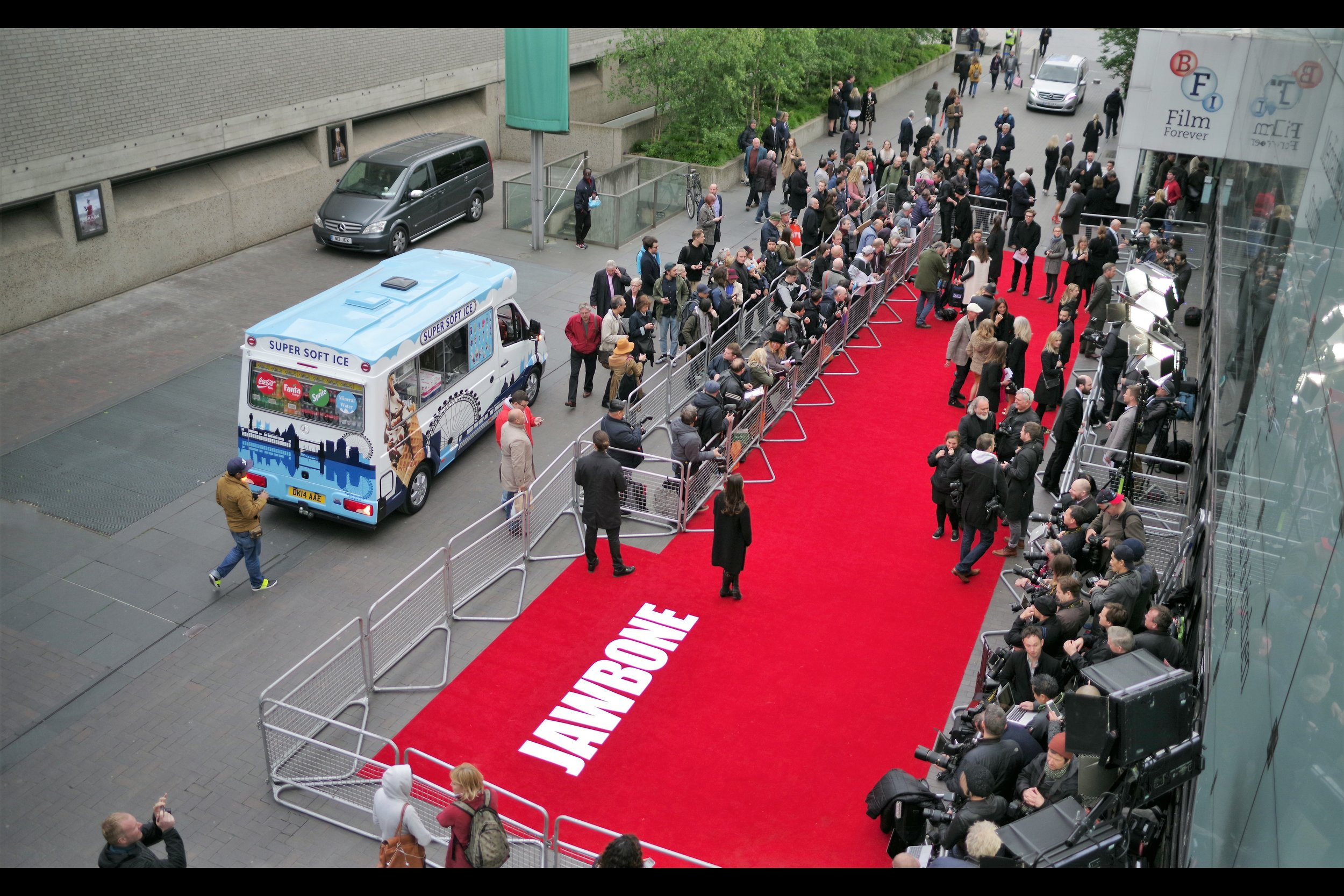OMG and then an ice-cream van showed up at a premiere, and ordinarily I'd just make that up but here's a photo.