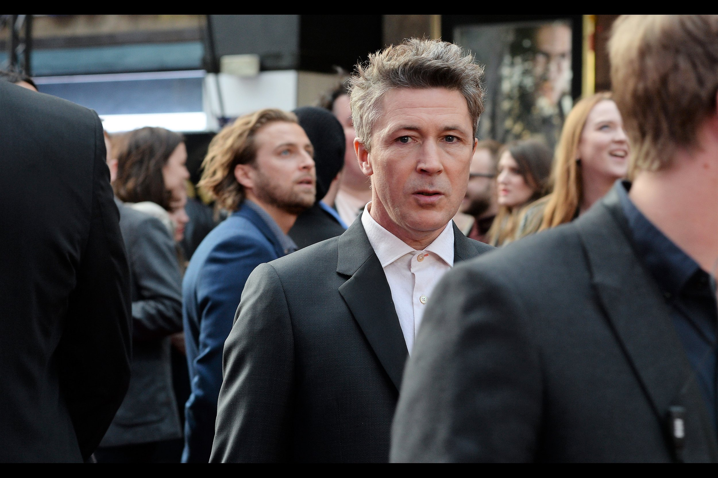 """I thought ties were so 1968. What did I miss in those four years??""  Aiden Gillen is probably best known for being in (at the time of writing) 35 episodes each of the TV Shows ""The Wire"" and ""Game of Thrones"""