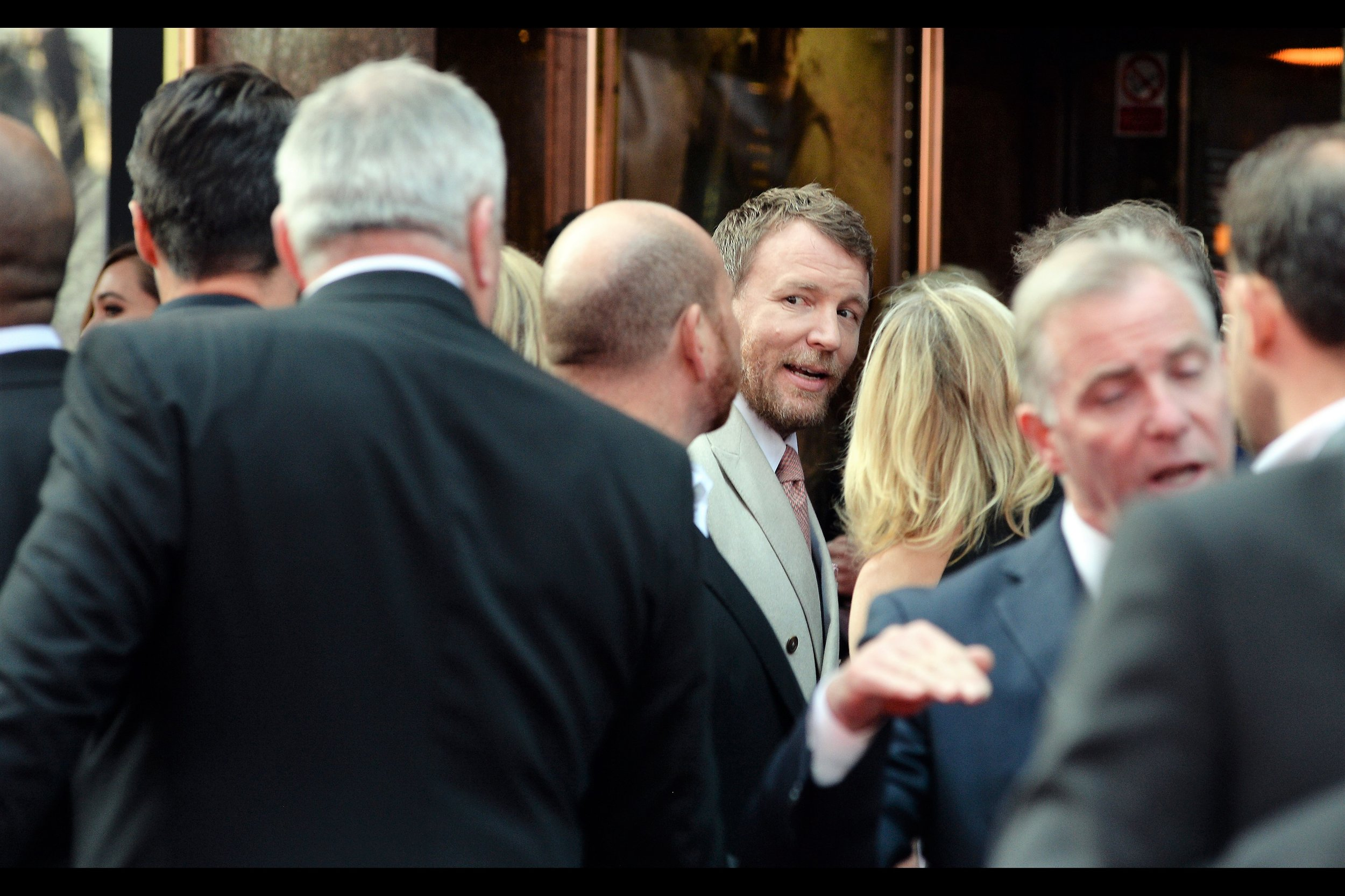 """Me? Onstage? What purpose would that serve? McGinlay's hair is better than mine, and David Beckham has just arrived and his is even better!"" -  director Guy Ritchie declined to go up on stage to be interviewed but it's probable that he enjoyed working with Guy Ritchie and looks forward to his next project."