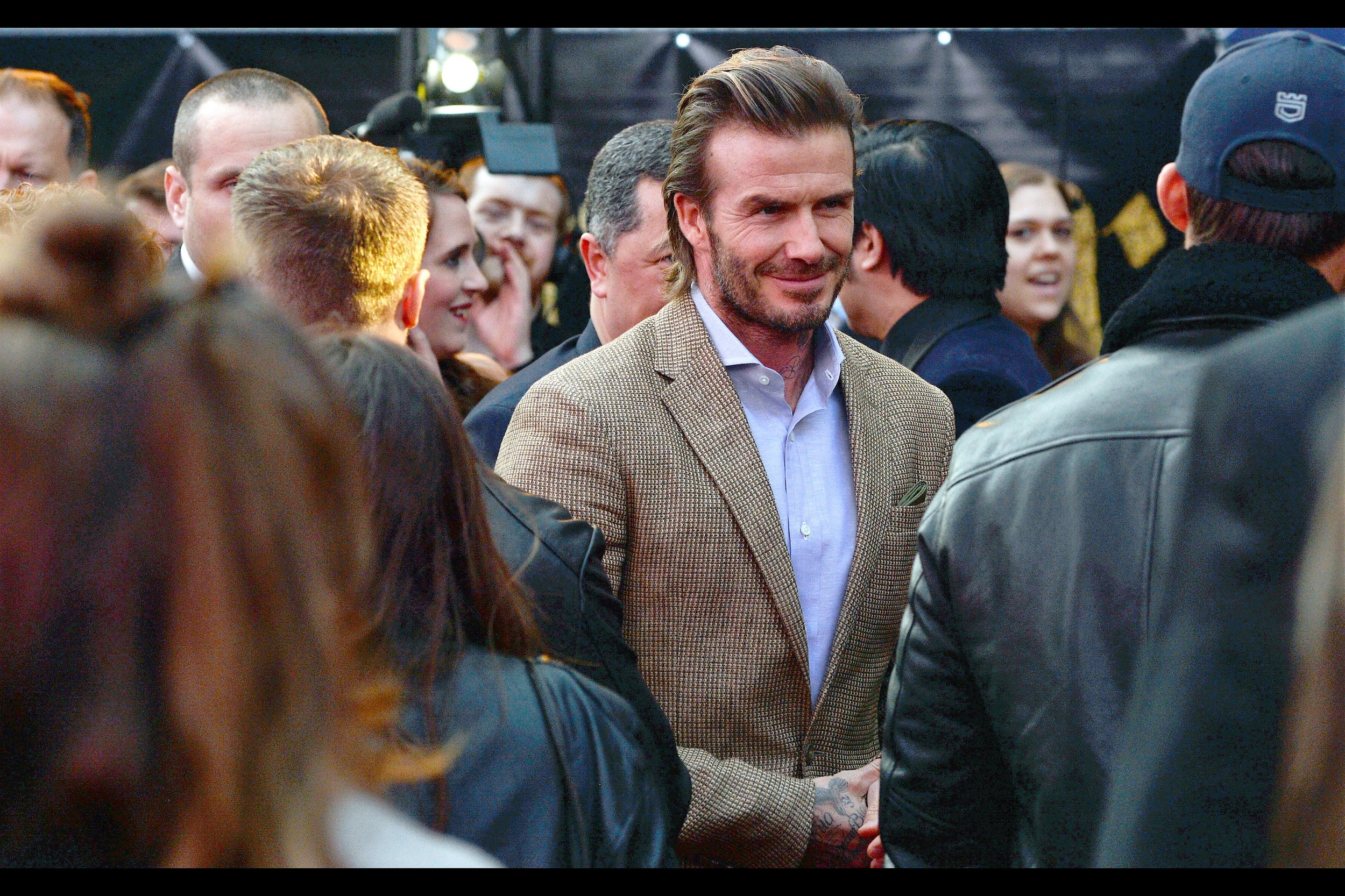 The man, the myth, the myriad of branded fragrances ...David Beckham apparently has 15 lines of dialogue as the character 'Trigger' in the movie.