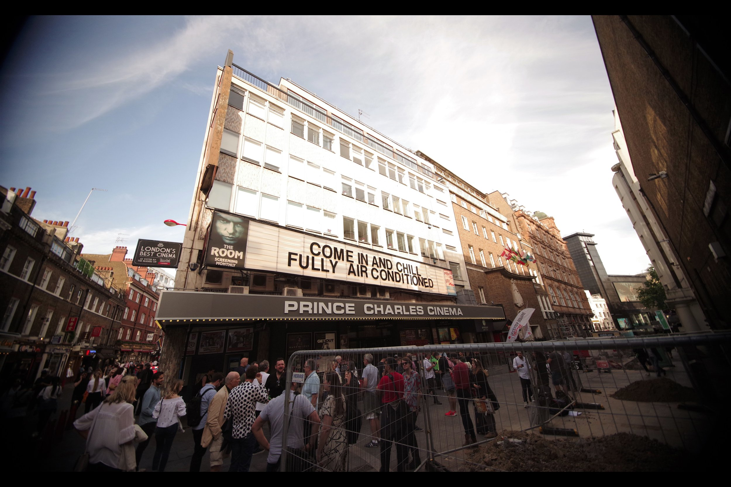 Once again, much like the premiere for Cain Hill, the Prince Charles Cinema has startlingly eschewed using its precious marquee space to promote its premieres and concentrated on what's really important.