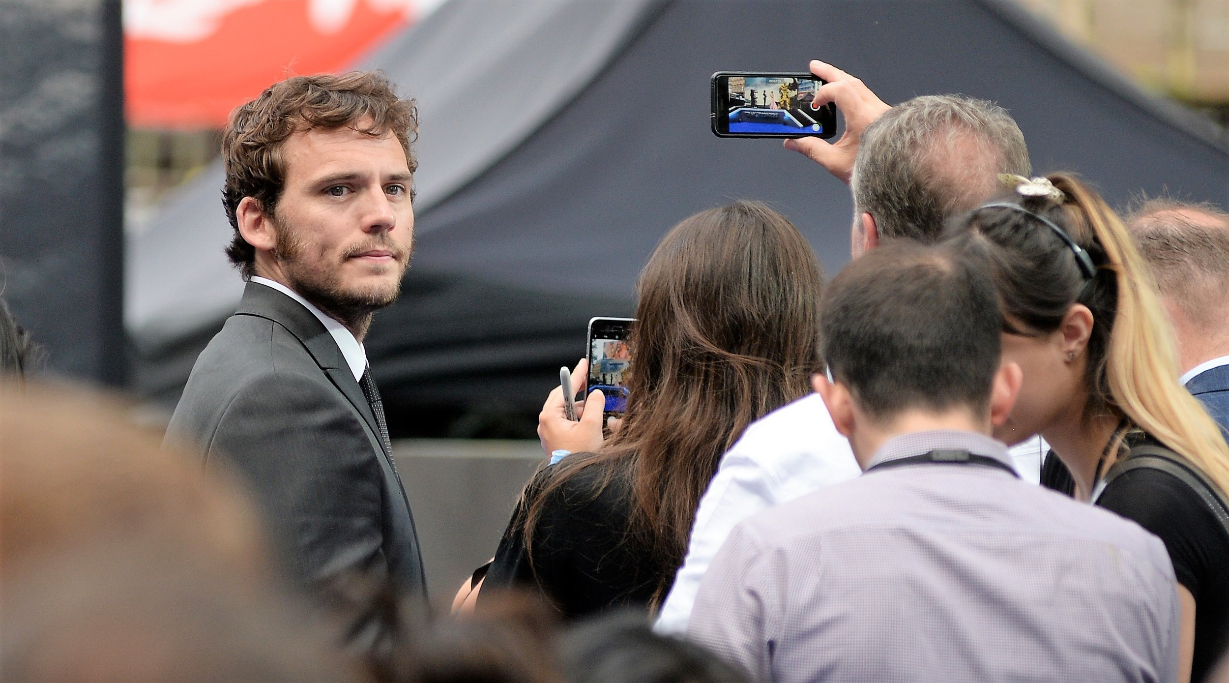 Sam Claflin isn't in this movie, but it married to Laura Haddock who is (conversely, Laura Haddock wasn't in 'My Cousin Rachel' but attended Sam Claflin's premiere because she's married to him) (it's not as complex as it sounds)