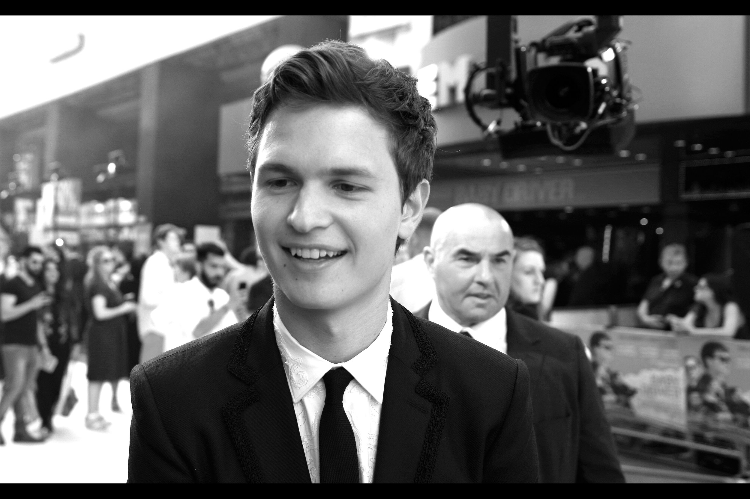 """You were screaming my name yet I don't even know yours. How weird is that?"" -  I think I last photographed Ansel at   the premiere of ""Men Women and Children"" back in 2014 ."