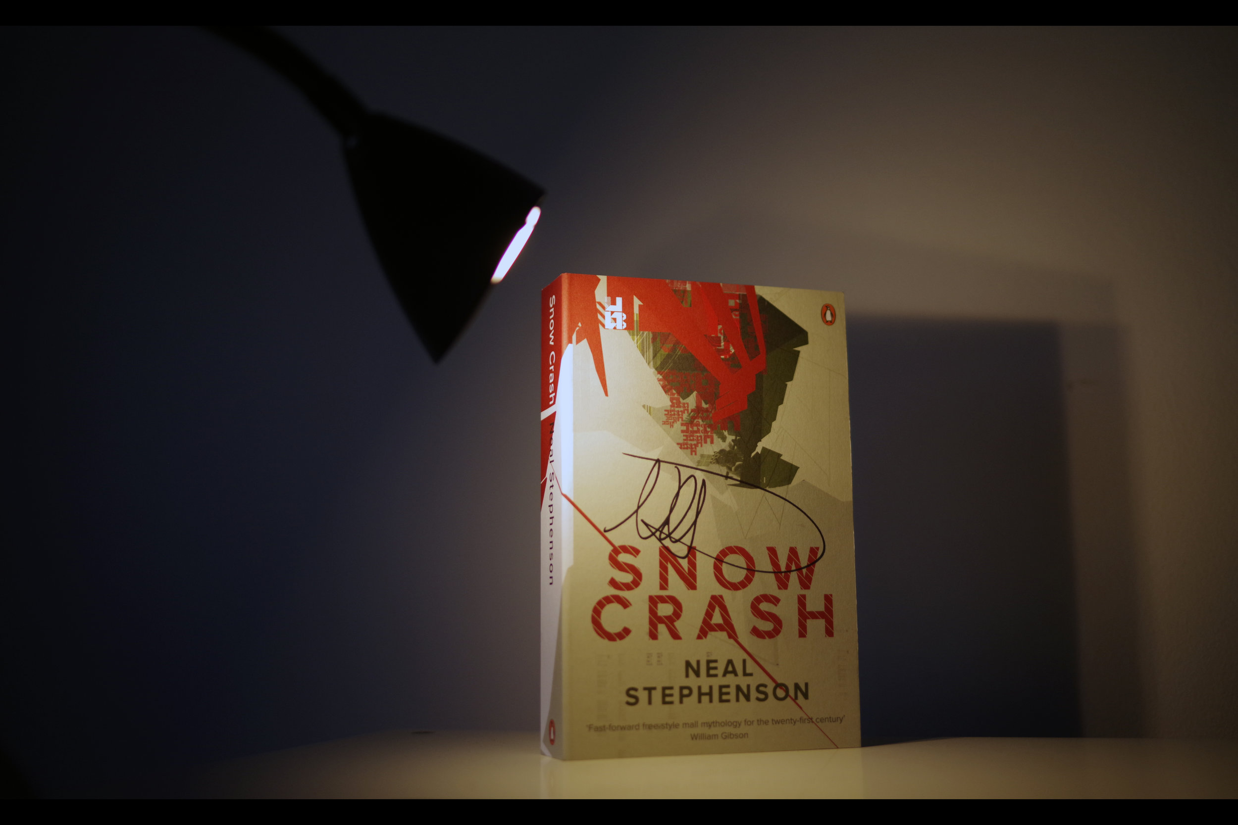 """My signed """"Snow Crash"""" (damn straight it's not for sale!!)"""