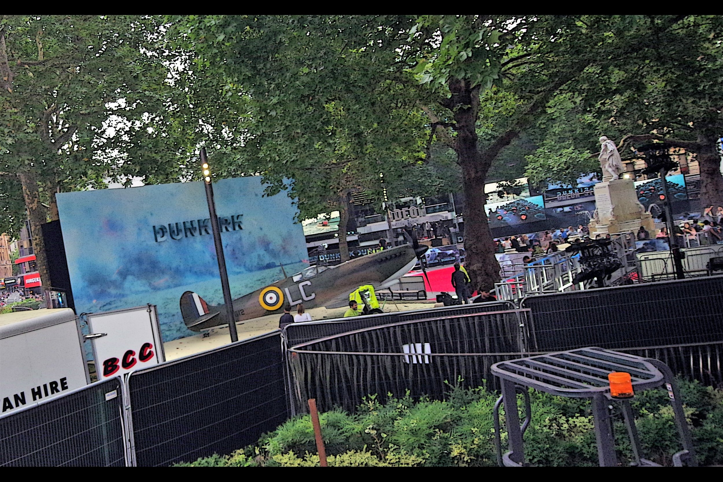 """Hey, you can't park that here!!""  - like   Transformers The Last Knight   a few weeks ago, this world premiere took up the entirety of the centre of Leicester Square."