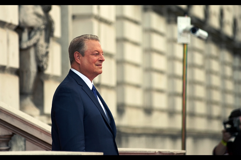 It's Al Gore! Not only did he host the dual-Oscar winning documentary 'An Inconvenient Truth (2006), and not only did he apparently help invent the internet, and not only was he a US Vice President, but was the voice of AL GORE'S HEAD in several episodes of FUTURAMA!!