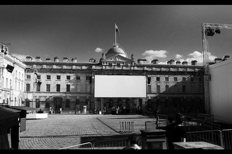 The Film4 Summer Series is held at Somerset House, formerly the site of the hallowed London Fashion week and the site of only one previous premiere I've been to : 'Two Days, One Night' starring Marion Cotillard.