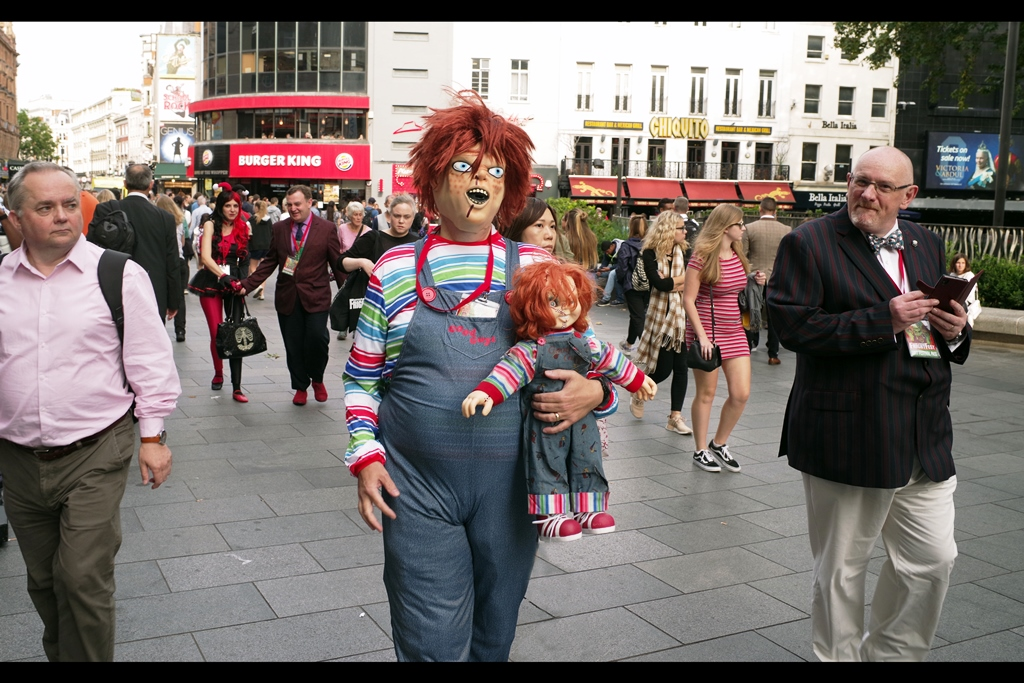 """""""What? Frightfest? No... I'm just taking my little sister for a walk"""""""
