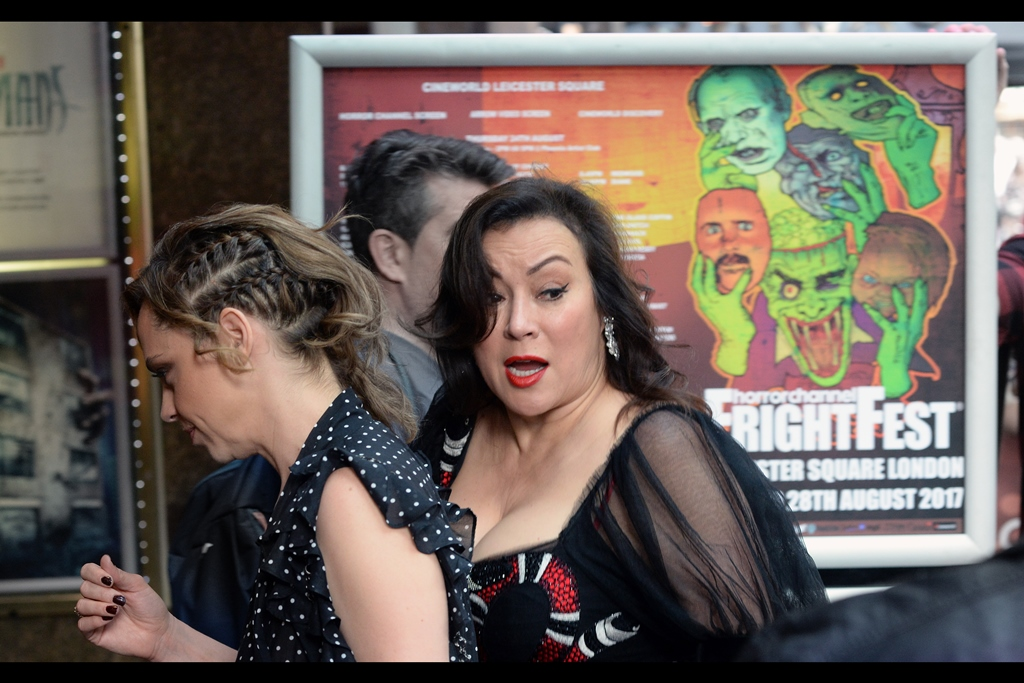 """""""Hey, that's a neat doorstop!""""  - Jennifer Tilly zipped into the foyer and up the stairs, pausing perhaps only in the slightest to imply she'd maybe come down later and sign autographs in a way clearly not meant to be interpreted as a binding social contract."""