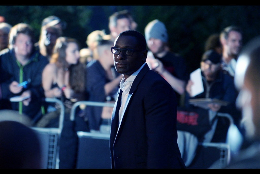 I've forgotten what David Harewood (?) is famous for, and it's after midnight and I really need to get some sleep.