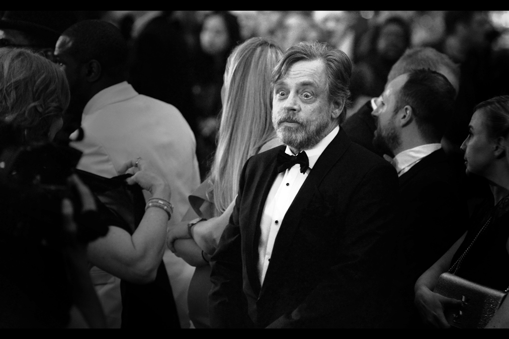 """George Lucas? Now there's a name I haven't heard since--""  Mark Hamill won the  ""Icon (as distinct from 'Legend' and 'Inspiration' which are also Awards)""  Award on the night."