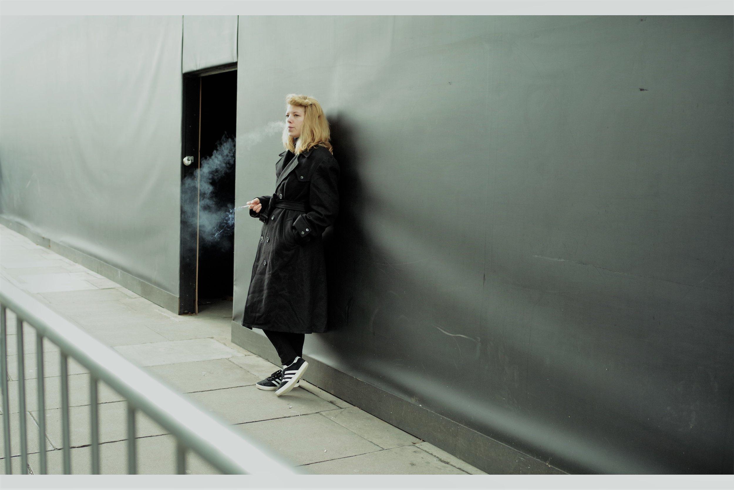 Good news from London Fashion Week. Smoking? It's still cool. But it's not enough to just smoke : you have to exhale. Like.... properly.