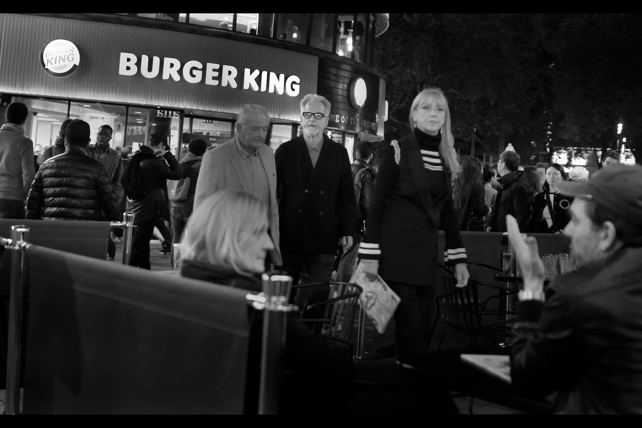 """.... and finally, at the trailing """"G"""" of the reluctantly product-placed """"Burger King"""" is Trevor Eve, who is in this movie; father of Alice Eve; father of director Jack Eve; and who has one Olivier Awards for both Best Actor (in 1982) and Best Supporting Actor (in 1997)"""