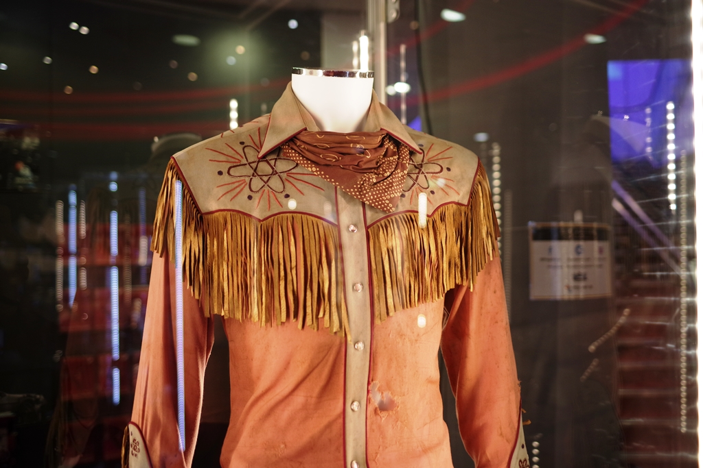 """Perhaps not the coolest costume in the world (it was literally MOCKED by characters in the movie it was worn) - Marty McFly's """"Western"""" clothes from Back to the Future Part III, bought in 1955, then worn in 1885.   (The Batman costume was from Batman Forever, and it didn't meet its reserve price)"""