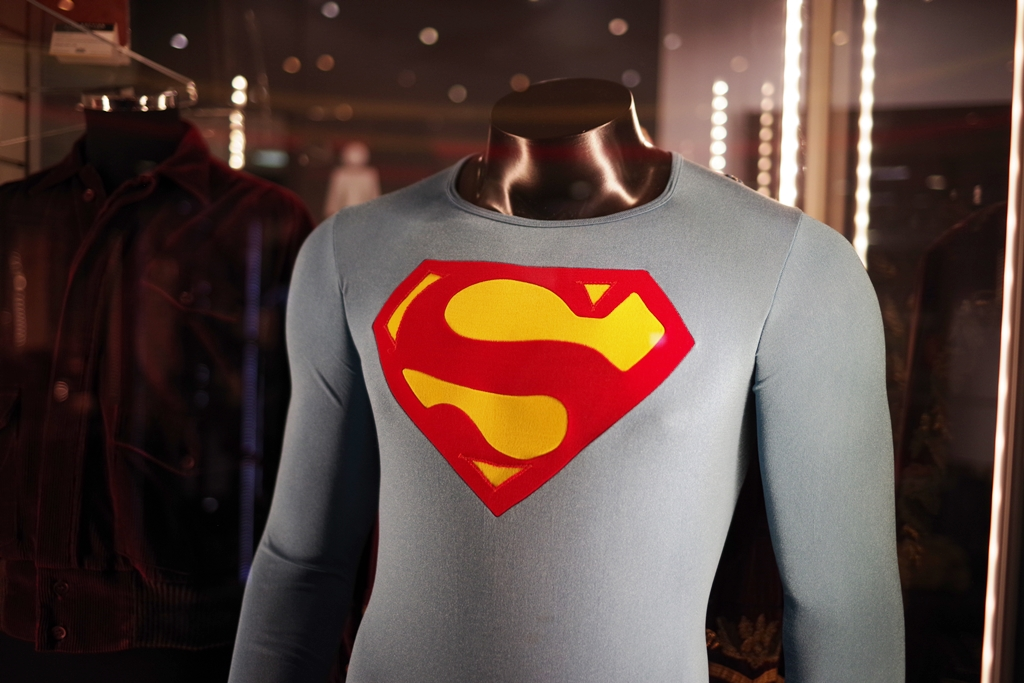 """I believe the conversation would go something like this:  """"Woah : you own the original Superman movie flying costume!!!"""" """"well... no. This one's from Superman IV : The Quest for Peace"""" """"....Oh."""" """"It's still Superman, man! It was still worn by Christopher Reeve, man!"""" """"... I know."""" """"Shut up and admire the stitching.""""  Winning bid: £8,000"""