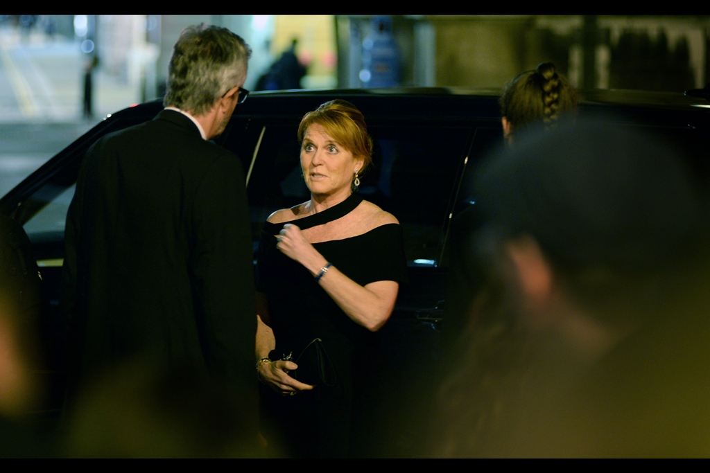 """Bruce Wayne said I could ... uh... use his invite?"" And finally, when the former Duchess of York Sarah Ferguson shows up, it's probably time to go home."