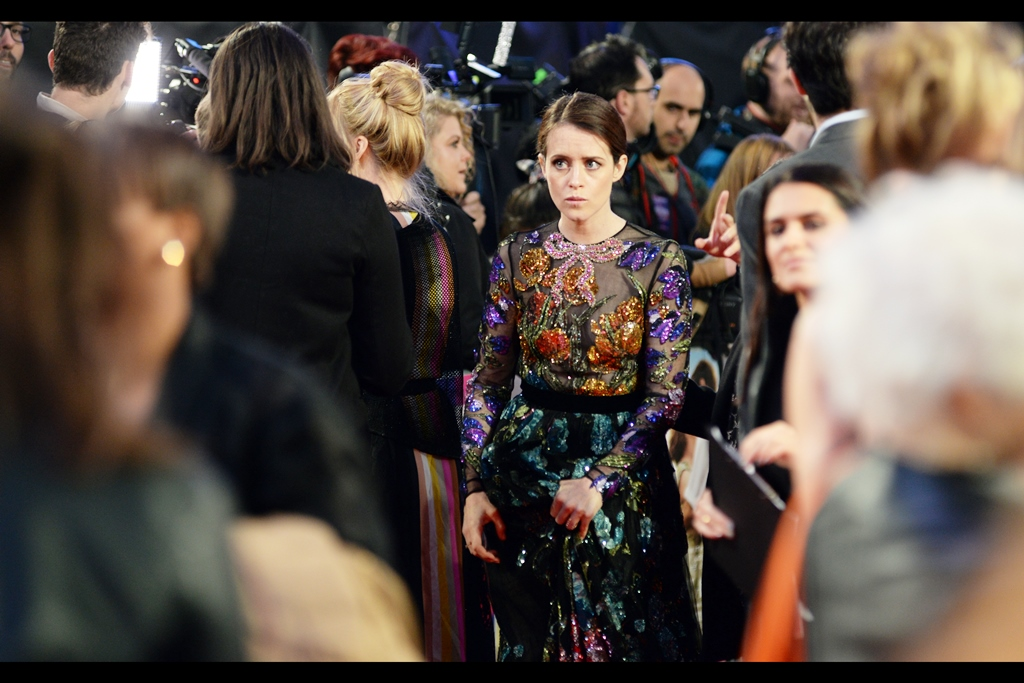 I have just enough vestigial recollection of London Fashion Week that I would pronounce this dress 'pretty nice'... but then I wore a grey hoodie under a leather jacket at this premiere, and my word is probably not to be trusted (I was warm, though....)