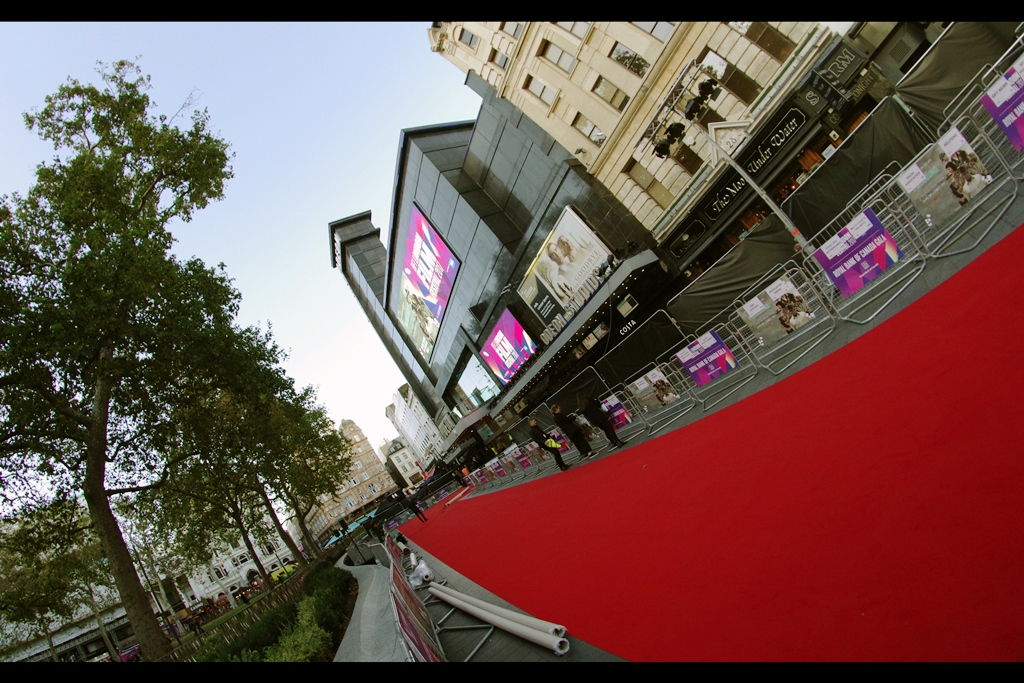 A crisp new red carpet, and for the moment I have a front row spot upon it.