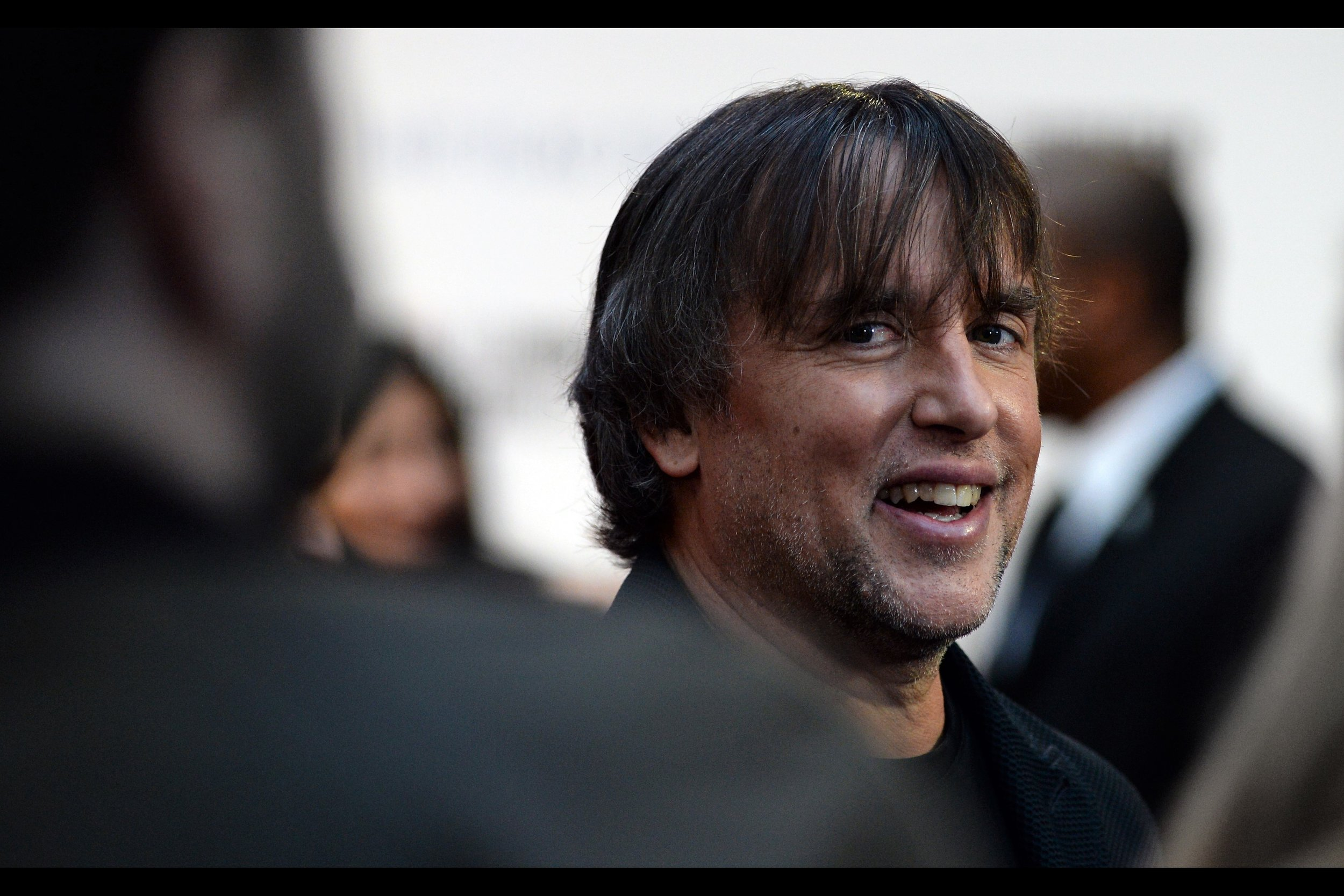 """Glad you're enjoying yourself, Bro""  - Richard Linklater has been nominated for FIVE Oscars (Primarily for 'Boyhood (2015)' but also 'Before Sunset (2004)' and 'Before Midnight (2013)'. I'd photographed about 60 percent of his face at   the premiere of 'Me & Orson Welles"" back in 2009"
