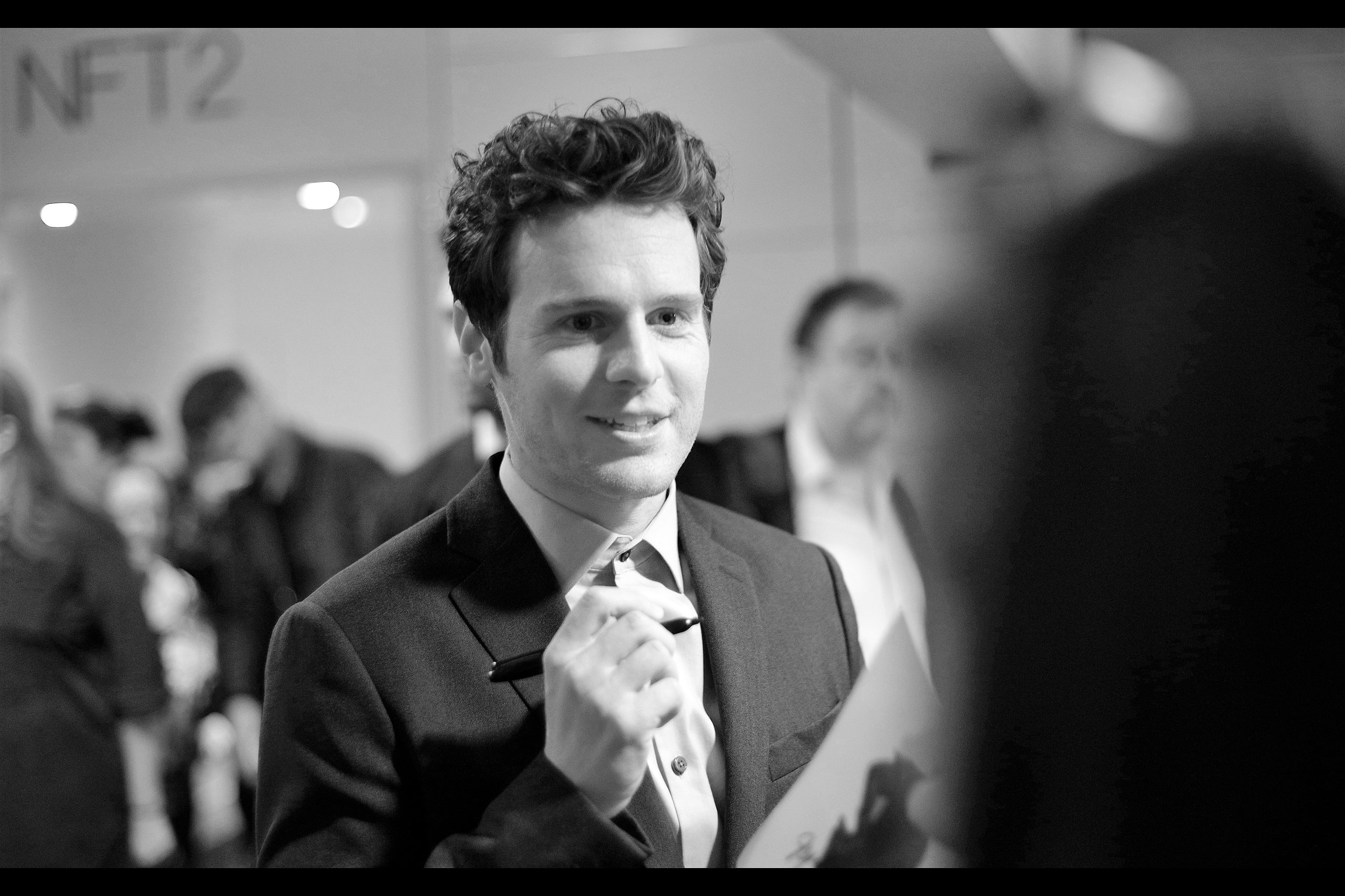 Jonathan Groff. I have little to add, but he's making people who are not me happy by singing and posing for selfies, which I think is nice.