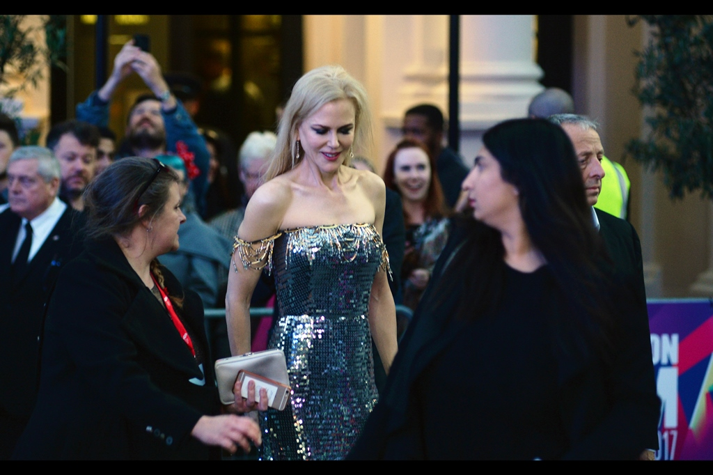 Arriving moments later, Australia's own Nicole Kidman - who I last photographed at    the premiere of 'Paddington'   , and have long since given up trying to get her to sign my photo of her taken in 2008 at the premiere of the movie 'Australia'. In part because I keep forgetting to bring that photo with me, I suspect.