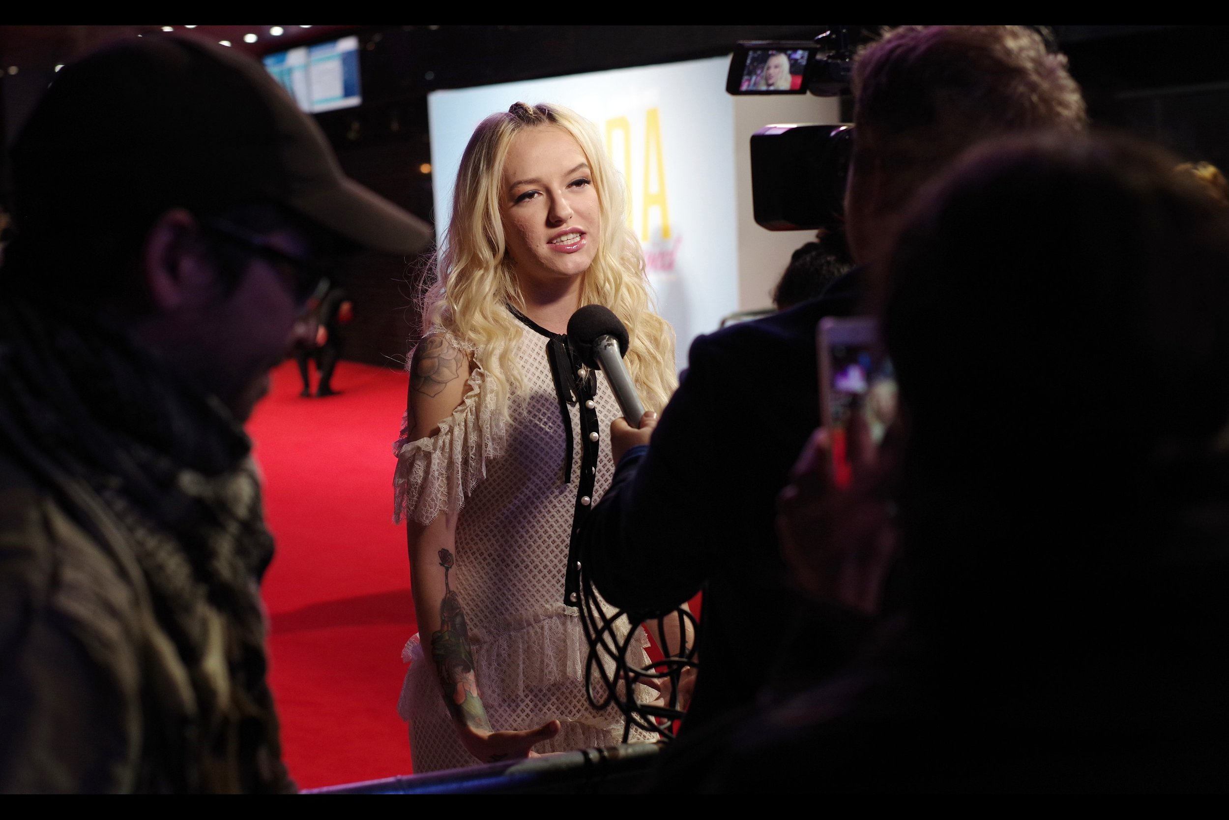 """""""You're holding the camera and holding the microphone while interviewing me.... is there anything I can do to make things easier?""""  - Bria Vinaite presently has an imdb.com listing that mentions only her role in this film, and the role of """"Herself"""" in something called 'celebrity page'"""