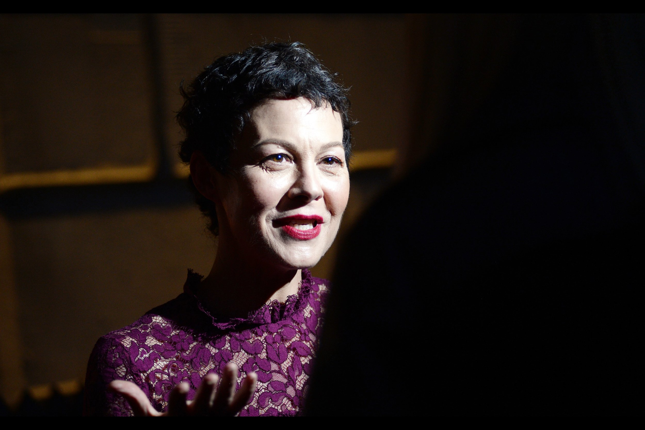 This is Helen McCrory (everyone, do you hear?) - she was in Skyfall, Hugo, and played Narcissa Malfoy in the Harry Potter films. (you're welcome)