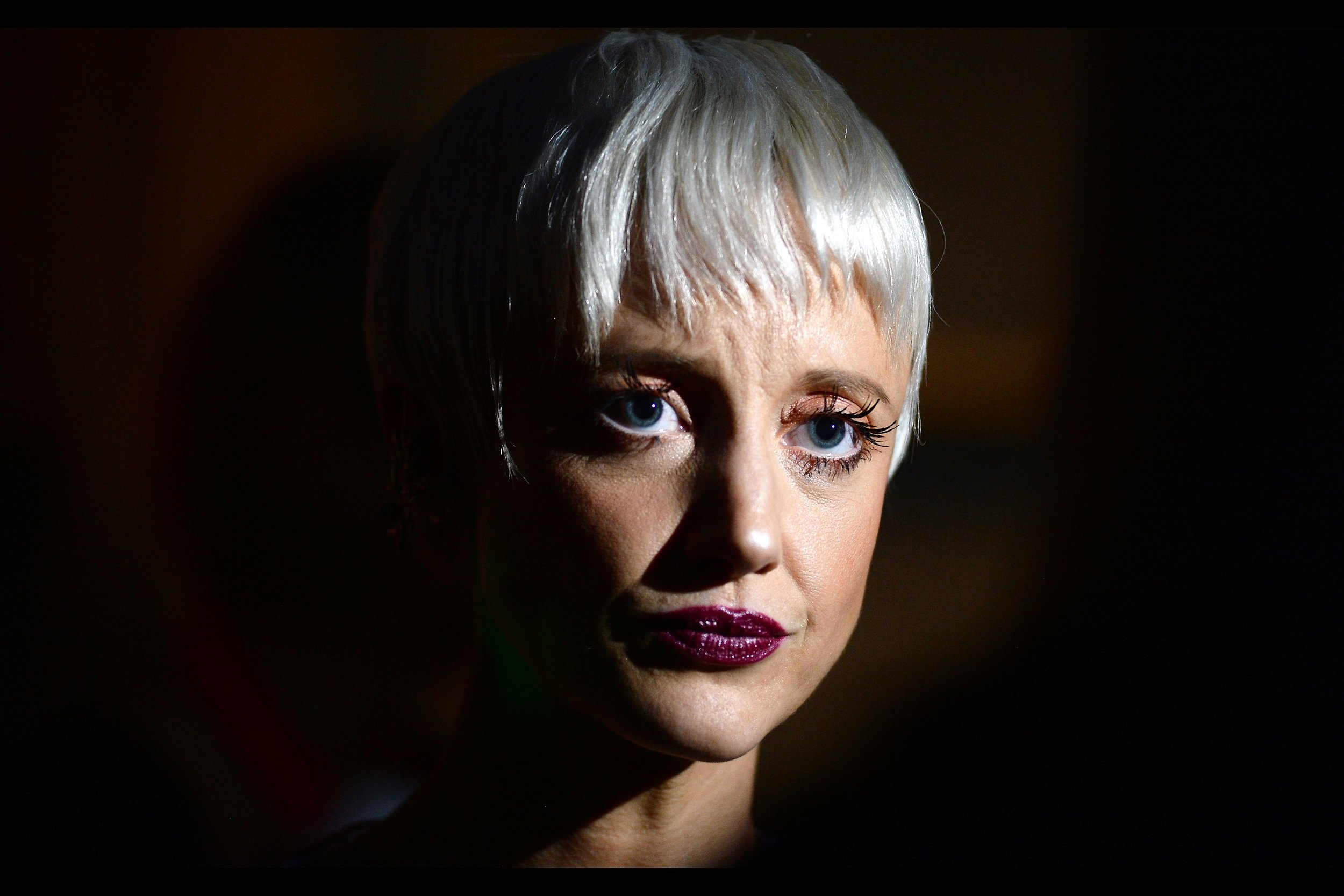 """I know this is actress Andrea Riseborough, as I photographed her just one week ago at   the BFI LFF premiere of """"Battle of the Sexes"""" with Emma Stone  . It feels weird to me that a week ago I still had a week of photographing BFI London Film Festival to go... and now I only have tomorrow"""