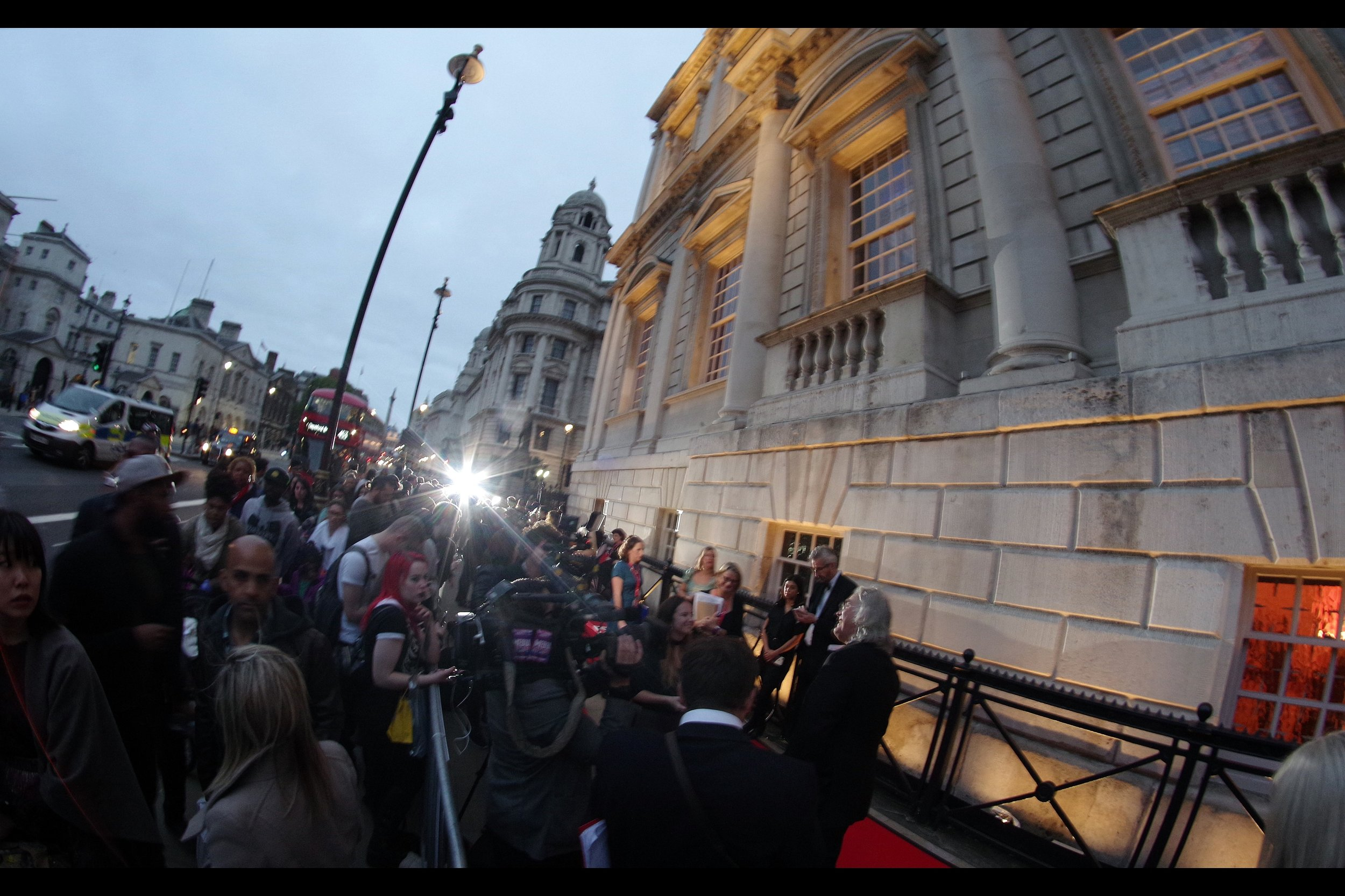 """So there was was, on a footpath on Whitehall, right near 10 Downing Street and Parliament, having run (and/or sauntered) from the Joaquin Phoenix premiere for   """"You Were Never Really Here""""   to be .... here."""