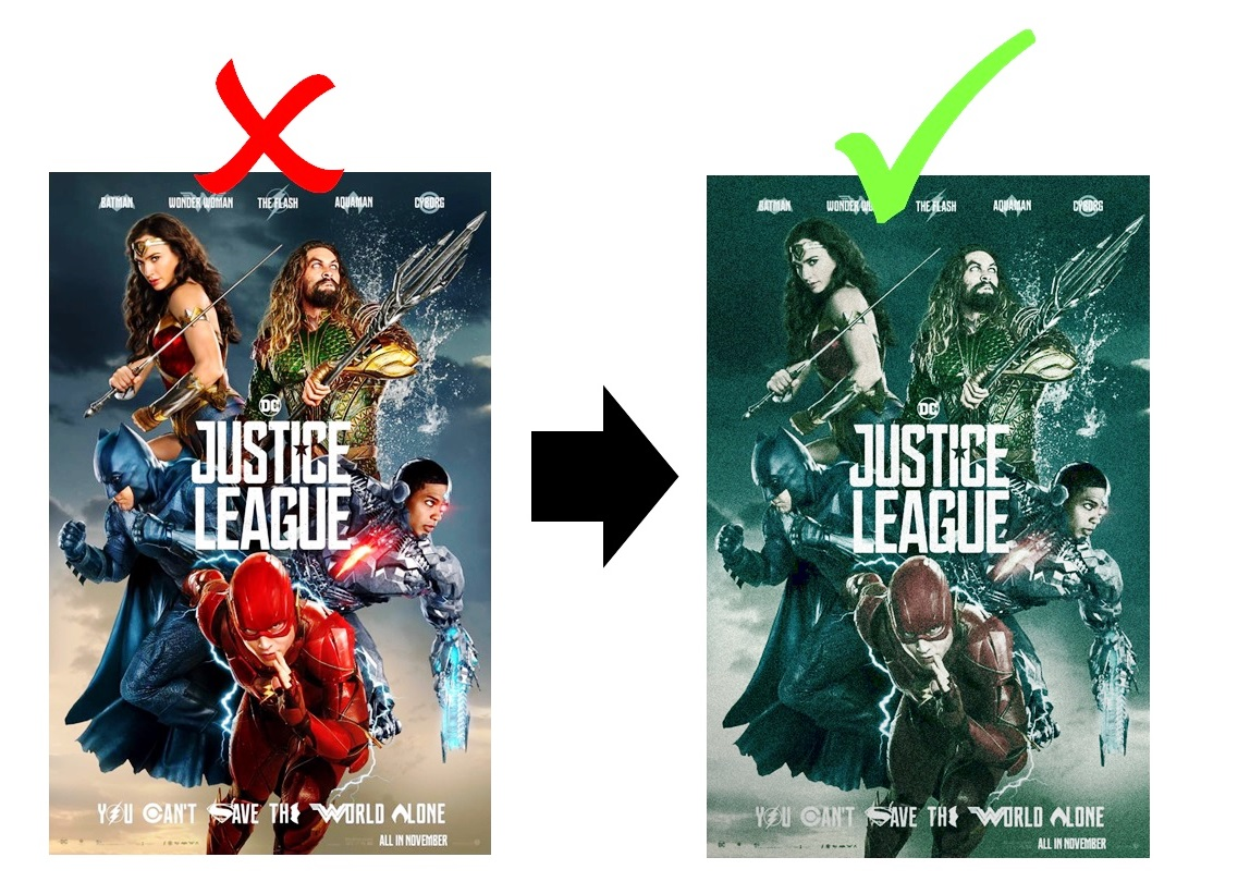 There's no way the poster on the left                             This seems much more likely. represents the movie they're making...