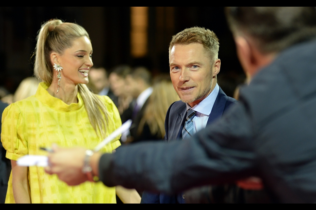 "Ronan Keating and I eye each other off, neither of us willing to admit to concede the extent to which he or I were at whatever Disney did to   promote the movie ""Beauty & The Beast""   earlier this year."