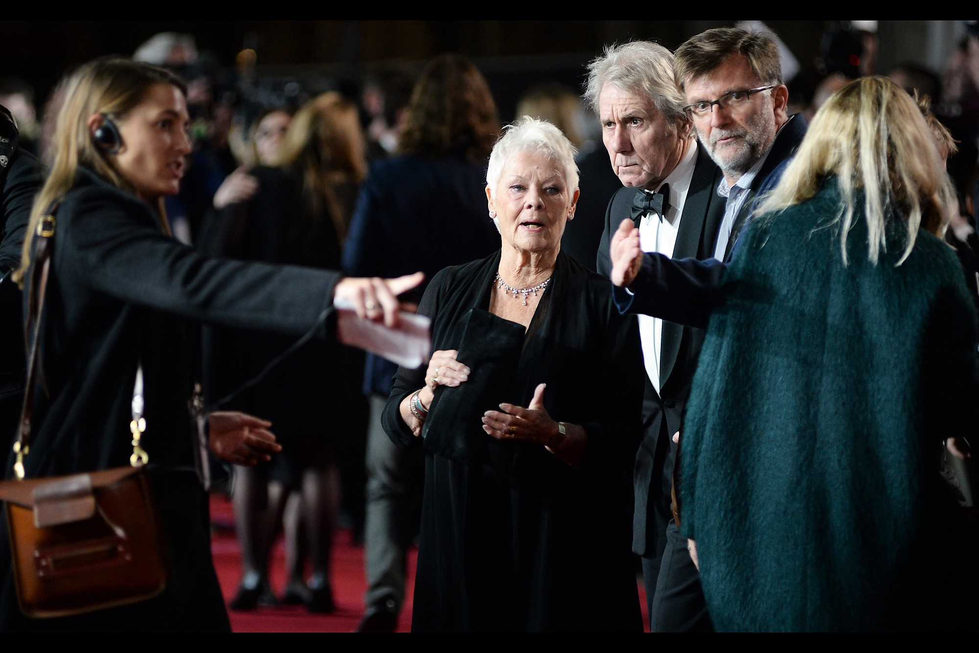 """They've all been told. You can punch any that disobey. Or ask security to punch them for you""  - Dame Judi Dench suffers from an eye ailment and all the Paparazzi were instructed to turn OFF their flashes when photographing her."