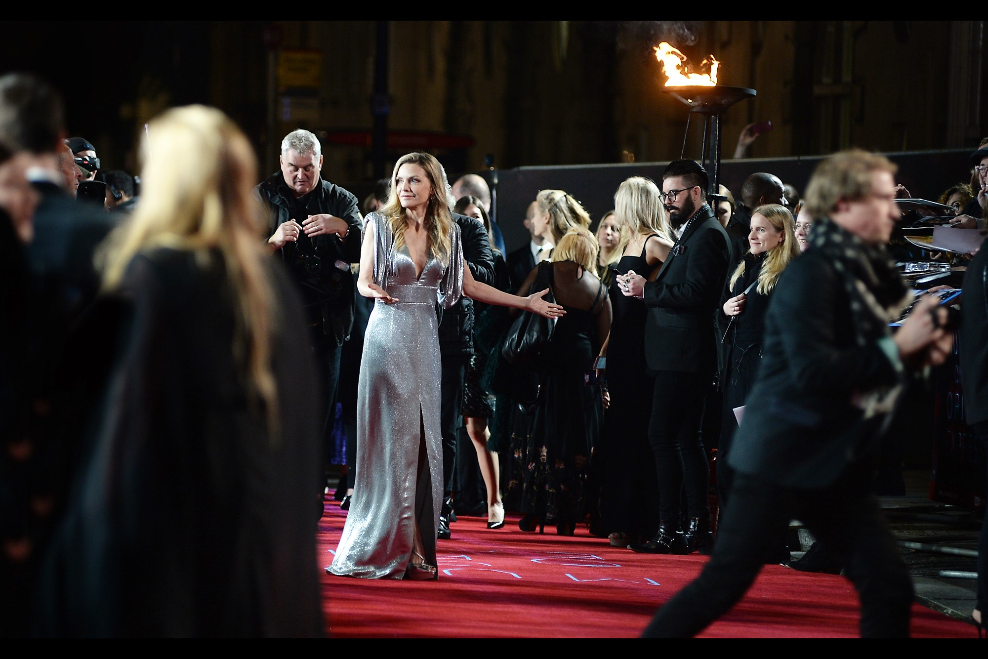 """But... but... I wanted to run all along the carpet in a zig-zag pattern with gleeful abandon!""  Michelle Pfeiffer, who is in this movie, has arrived. I've only photographed her once previously, and not particularly well, at   the premiere of Dark Shadows   back in 2012"