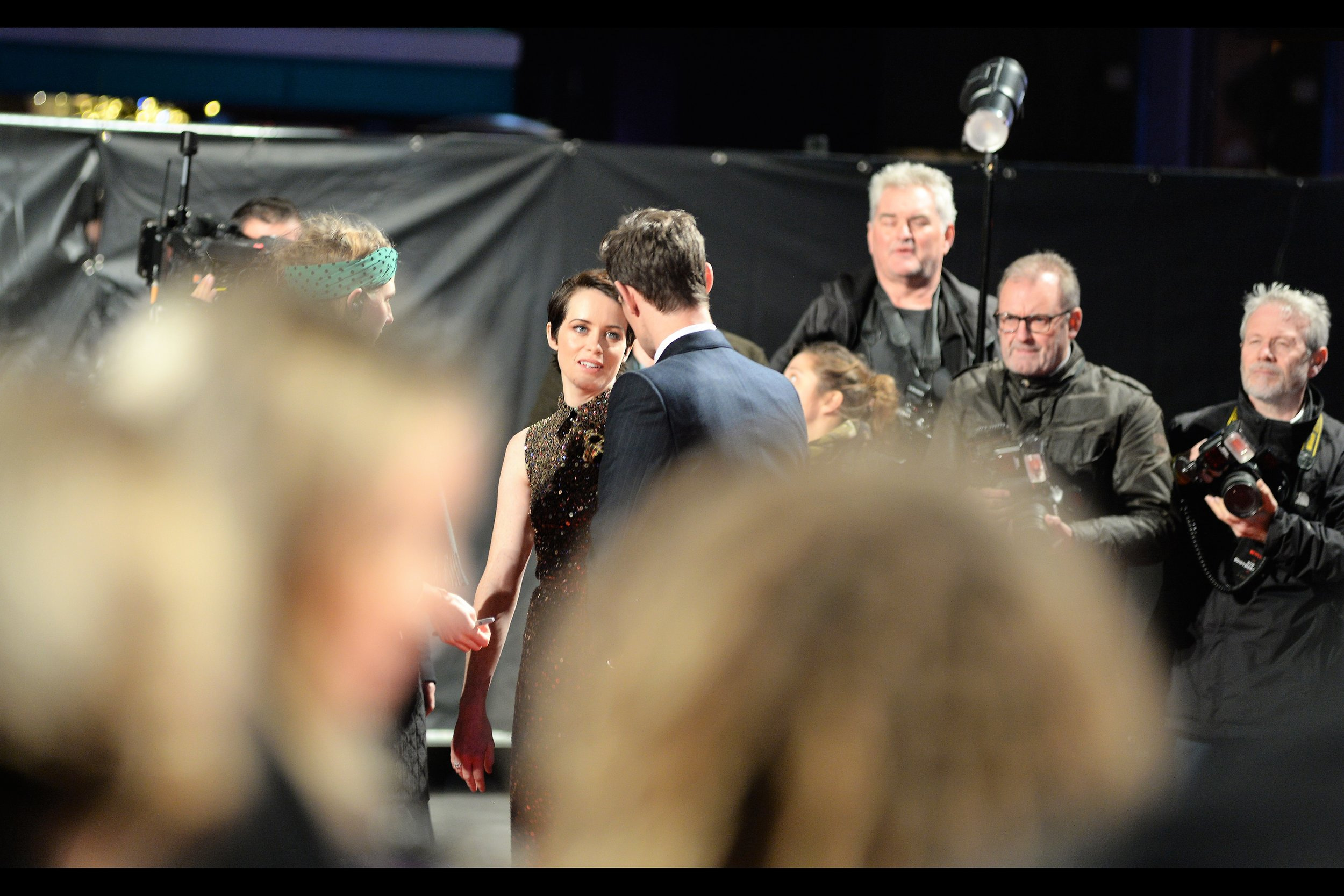 """""""You know... the Queen and Prince Philip wouldn't have listened, let alone followed, those guys' instructions. Can we go back again and ignore them?""""  - I most recently photographed Claire Foy at the   BFI LFF premiere of """"Breathe""""  , but she was also at the original   """"The Crown""""   premiere, wearing a dress that might passingly be called """"considerably more colourful"""""""