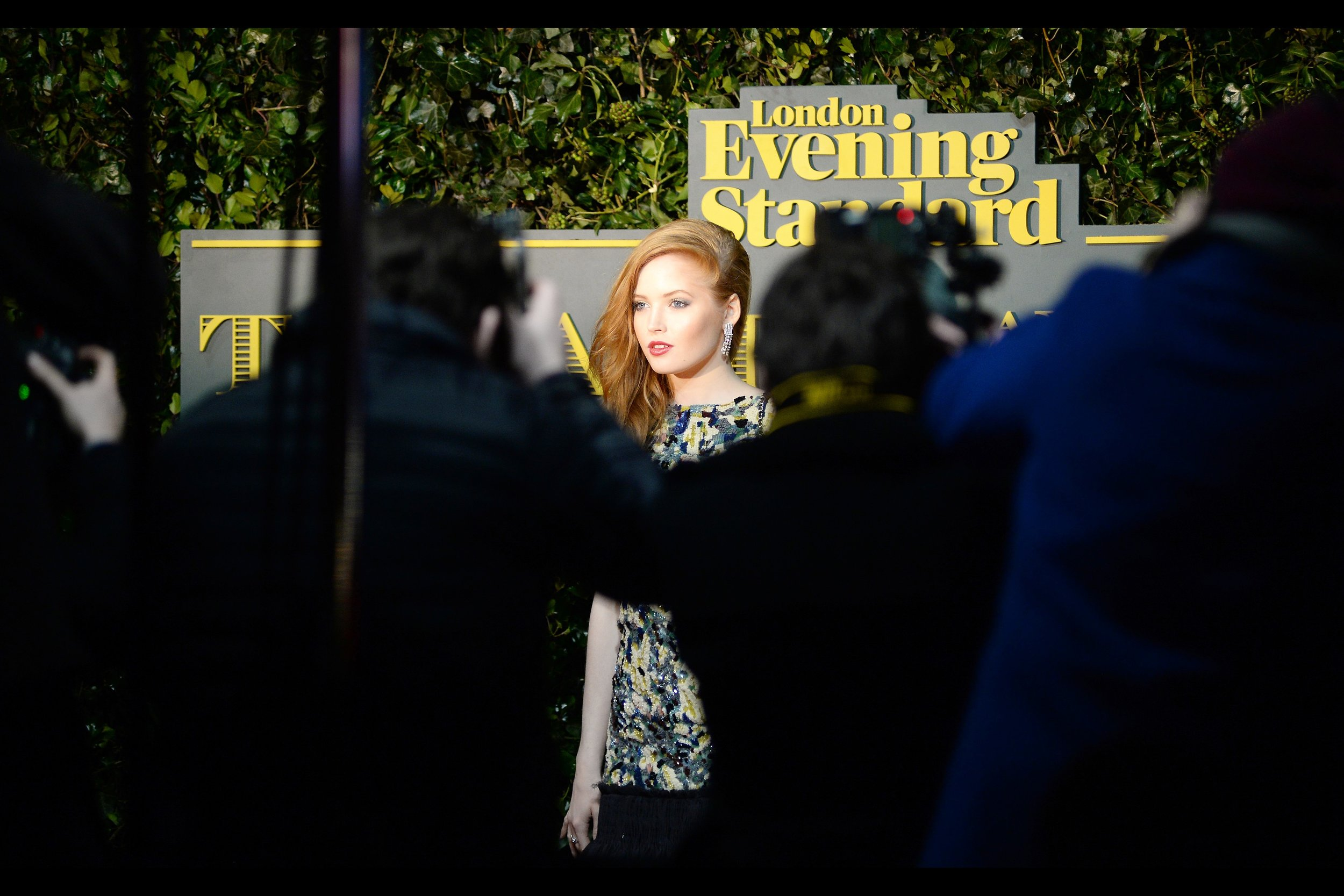 It's photos like this - of actress Ellie Bamber - that make me wonder whether I've chosen my spot at this event wisely or poorly. Might be time to think about shifting one or two people too late.