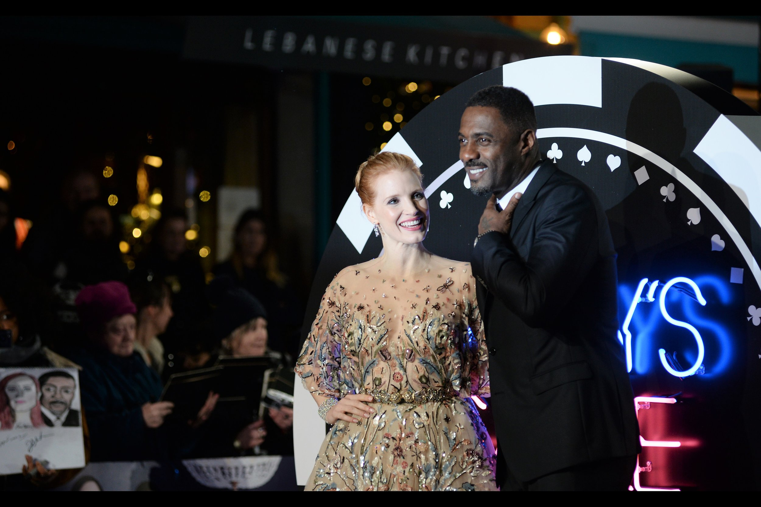 """I'm comfortably wearing thermals under my suit, but my co-star is not.... and I feel kind of bad about that"" . Disgracefully I did not offer Jessica Chastain my (black) thinsulate beanie. I feel kind of bad about that... but I did need it to keep my head warm."