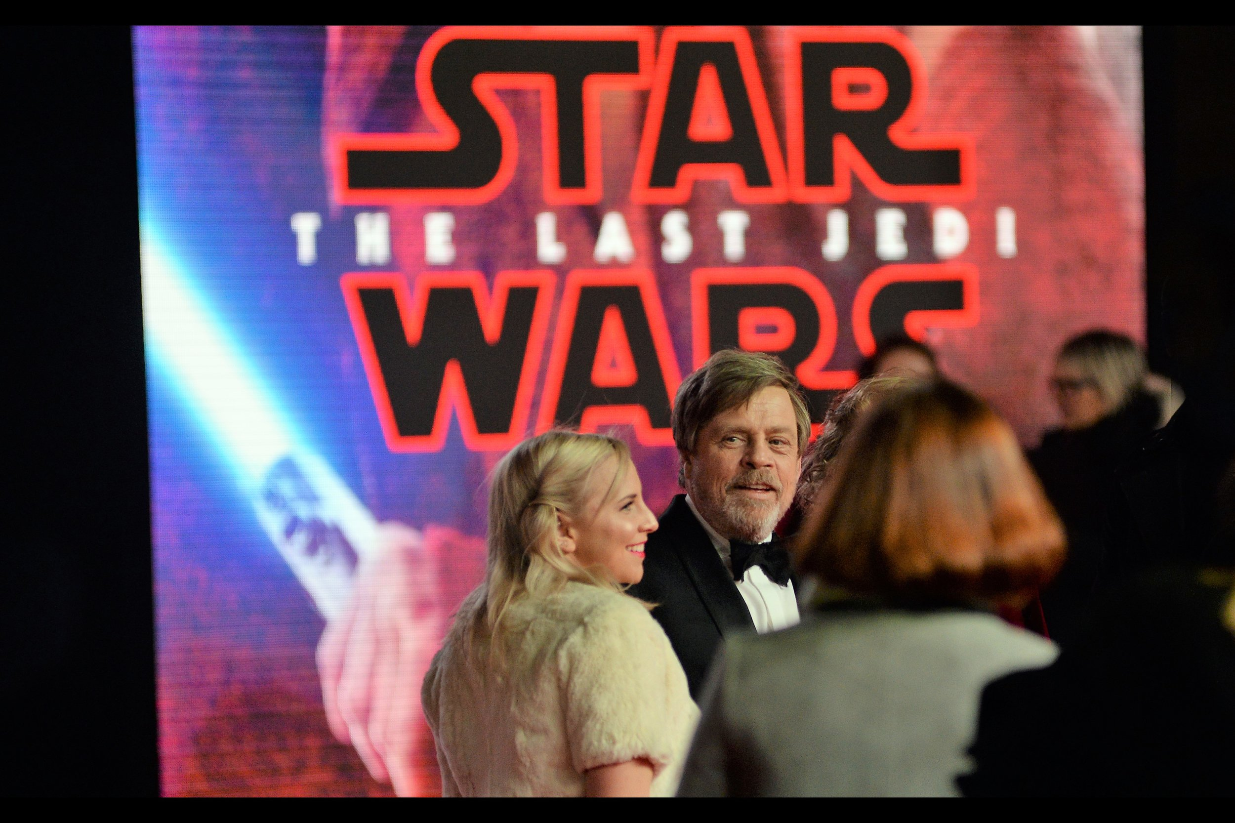 It's Mark Hamill! He plays Luke Skywalker in the film, and I've previously photographed him at the premieres of   Guardians of the Galaxy   and   Avengers Age of Ultron   (I think?) as well as   this year's GQ Awards  . But this is he first time I've photographed him at a Star Wars premiere.