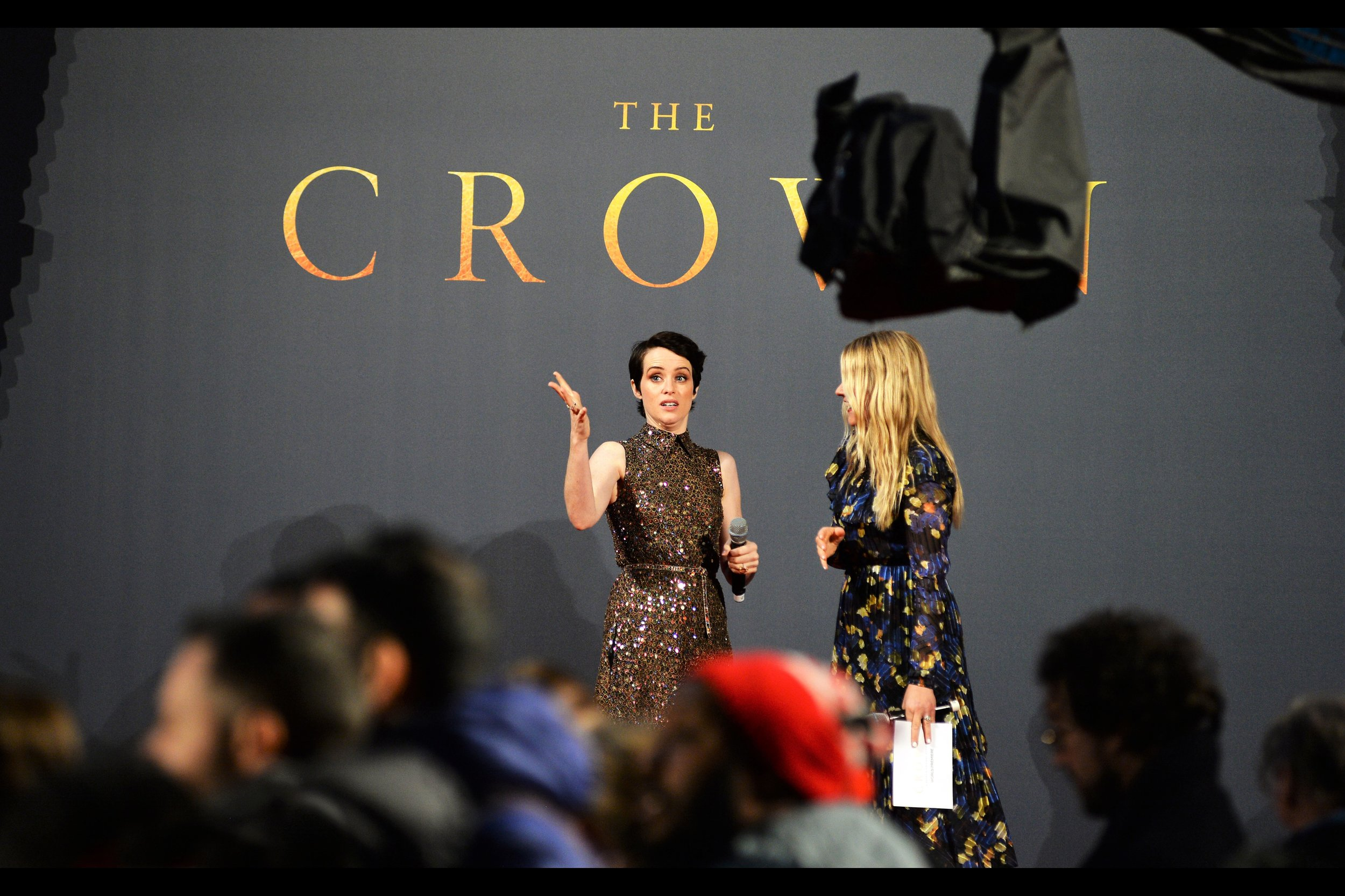 November 21st : Just like  last year , the Netflix series    'The Crown' had a season premiere    in Leicester Square.