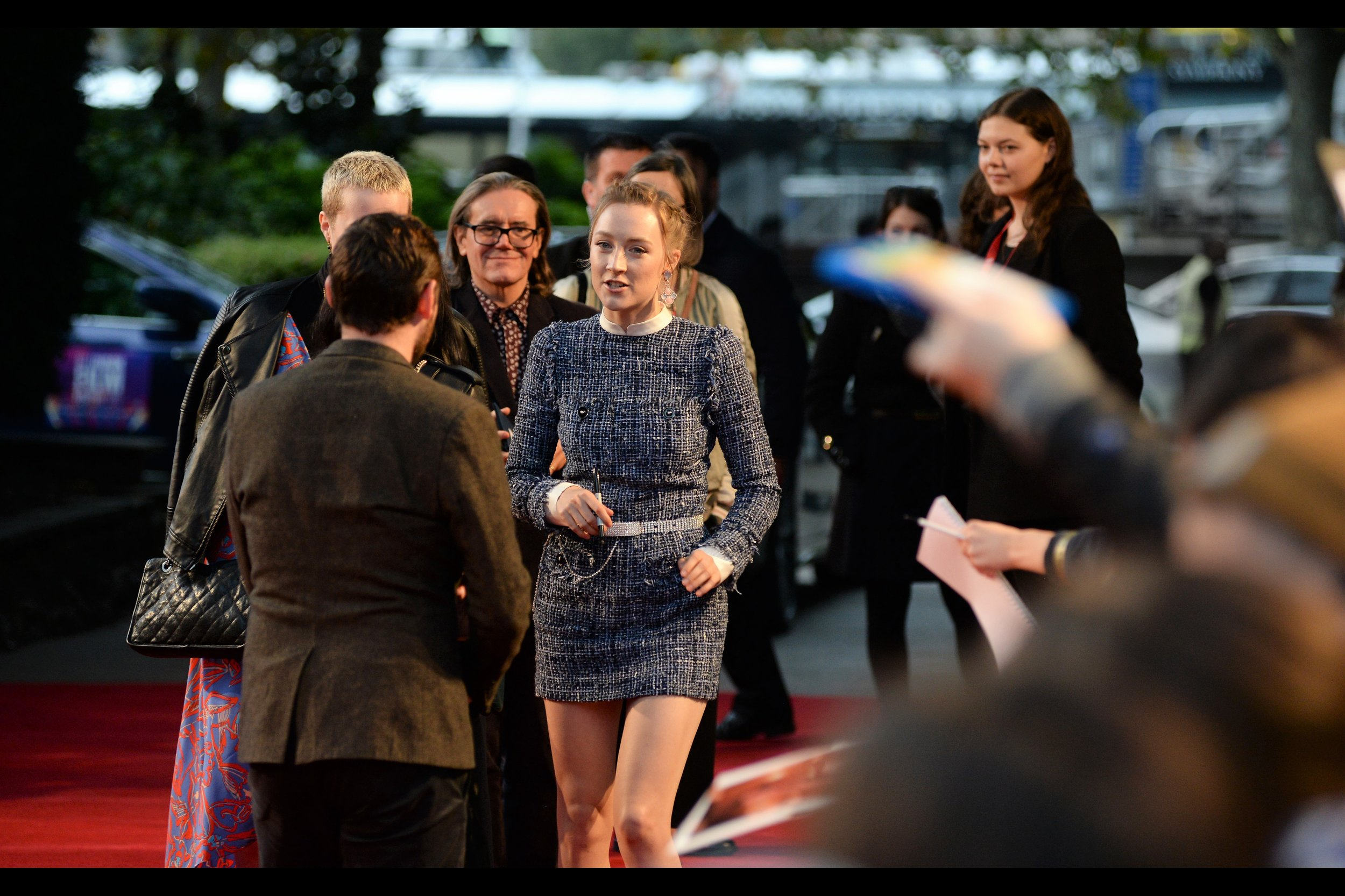 "October 8th (part I) : Saoirse Ronan (sadly) elects not to insult or otherwise injure autograph dealers at the premiere of    ""On Chesil Beach""   ."