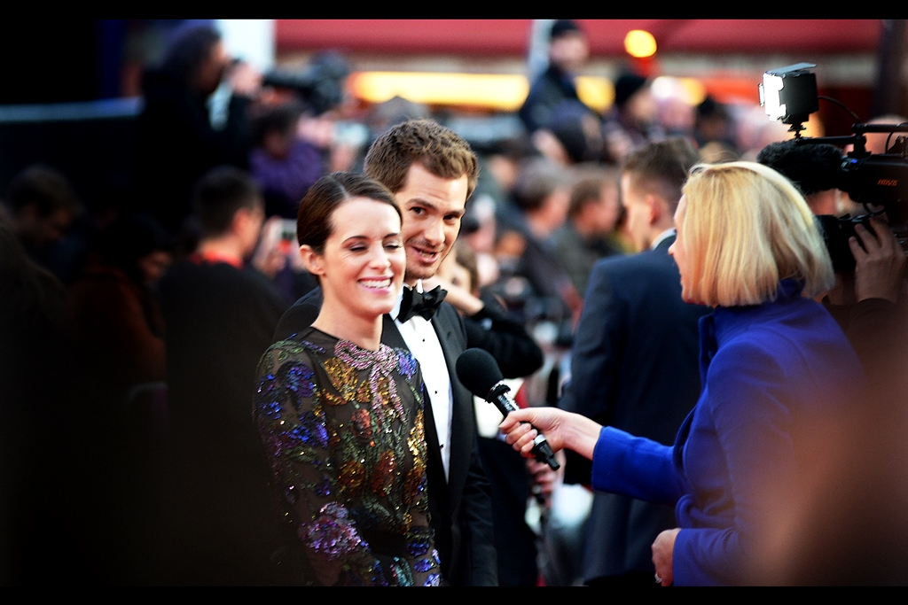 "October 4th : One day after the opening event, it's now the official opening premiere of BFI London Film Festival - and it's for the Andy Serkis directed, Claire Foy / Andrew Garfield starring    ""Breathe""   ."