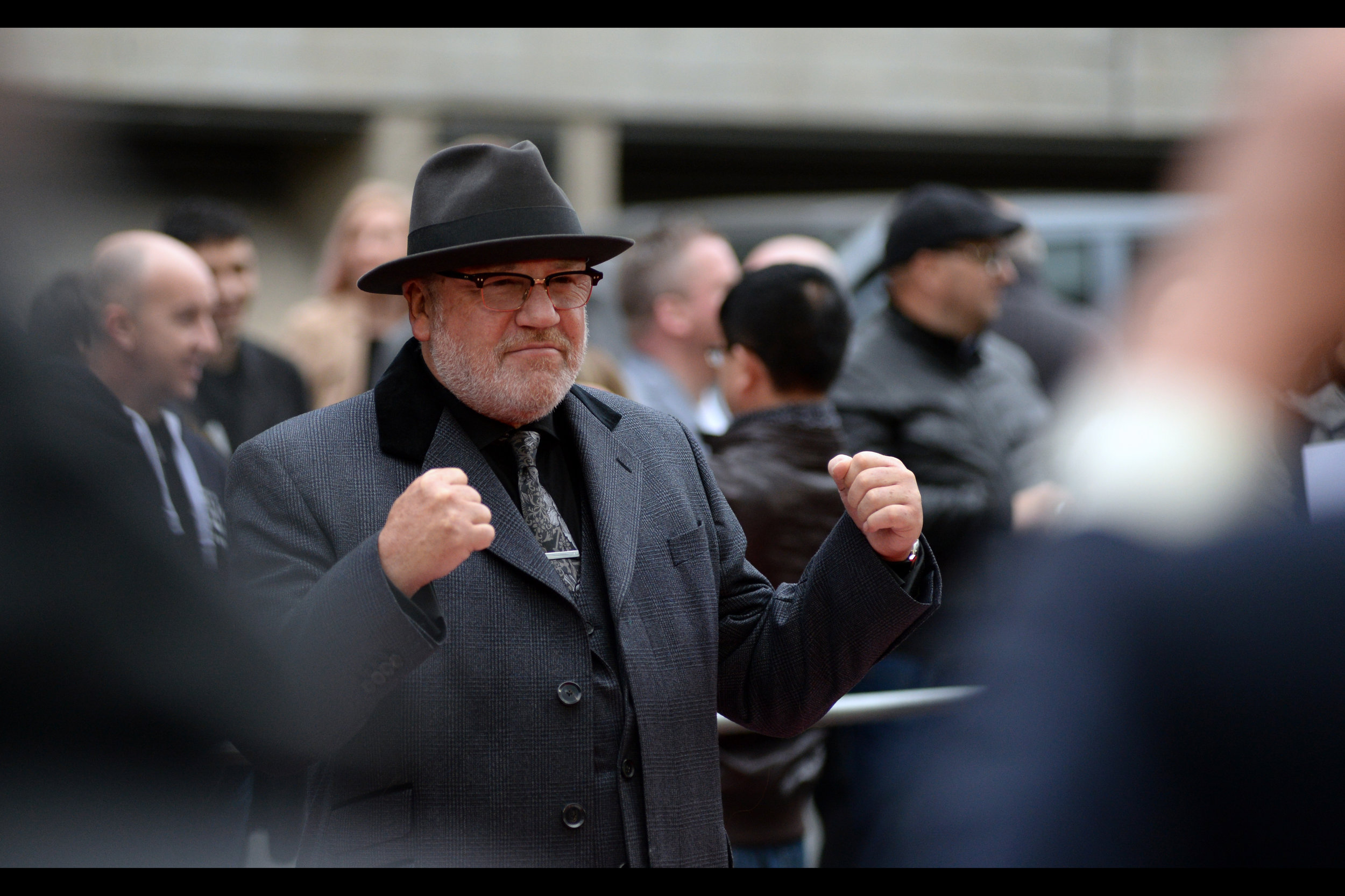 May 8th : It's a movie that stars its writer as its lead (who is not the pictured Ray Winstone, but don't let that negate the wonder) at    the premiere of 'Jawbone'   .