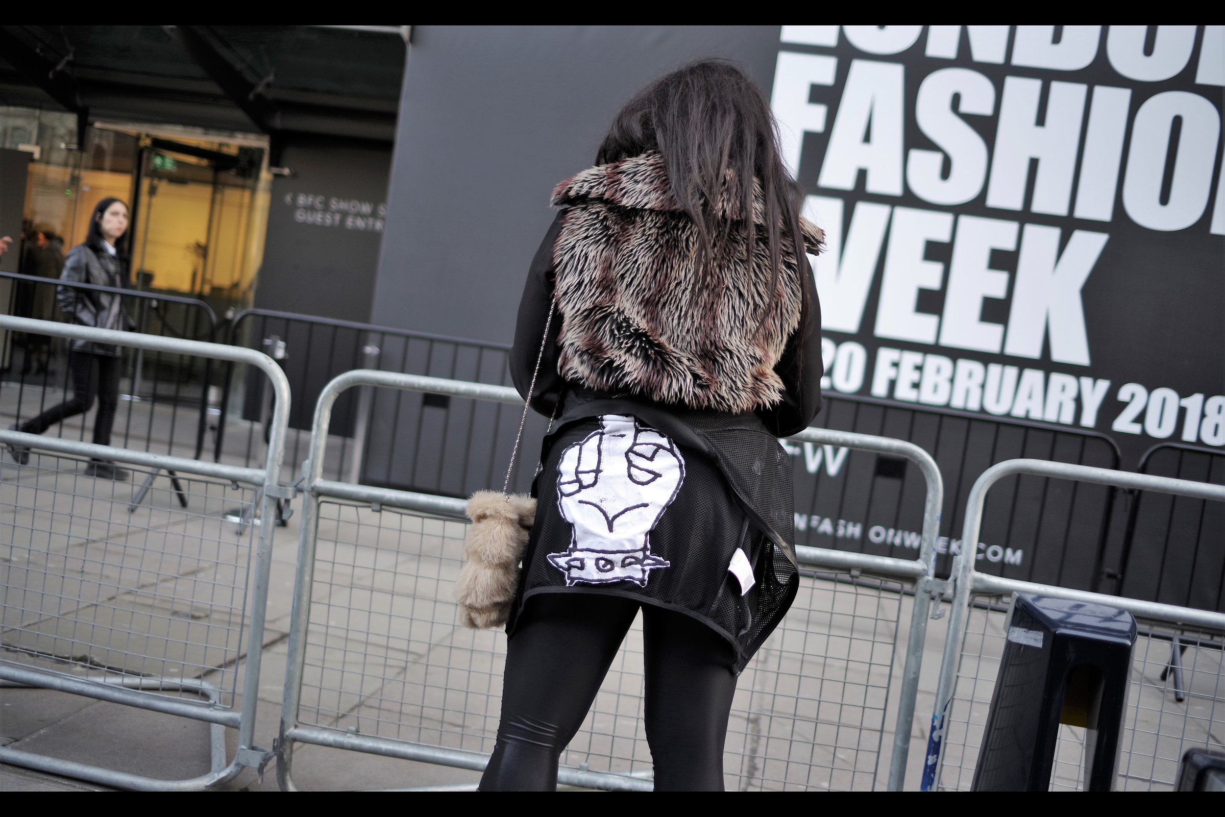 Ten out of ten for fashion.... three out of ten for wearing it appropriately.