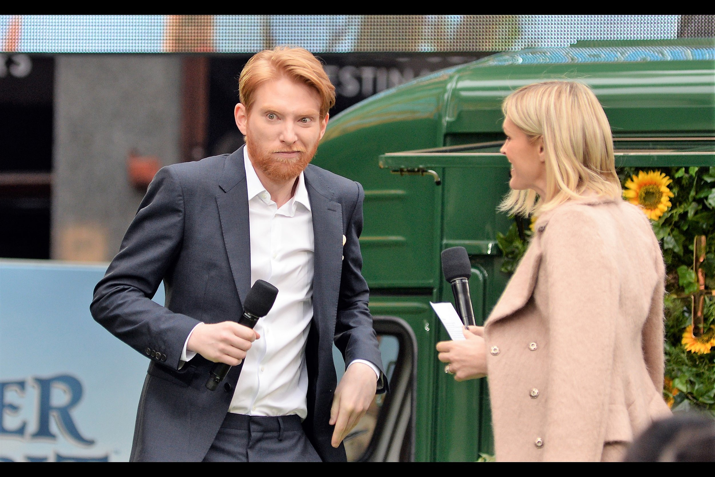 """""""Nothing. Just doing my bit to scare the kids.""""  - Domhnall Gleeson is this movie's antagonist/foil ."""