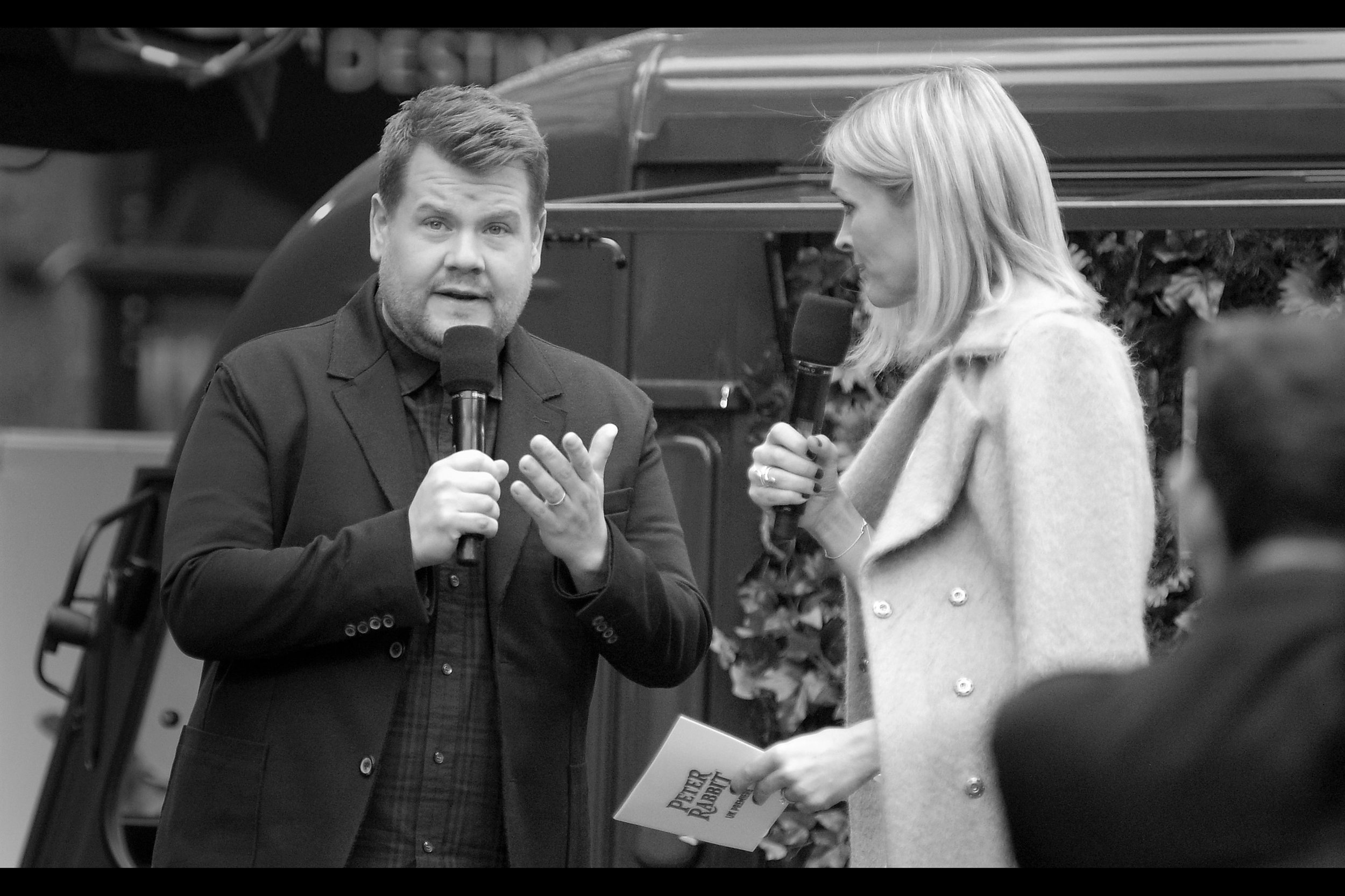 """I have photographed James Corden before, but I'm struggling to recall exactly where. Possibly the Apple Store event for    """"Begin Again""""    with Keira Knightley and Mark Ruffalo, from back when the Apple Store still did movie events."""